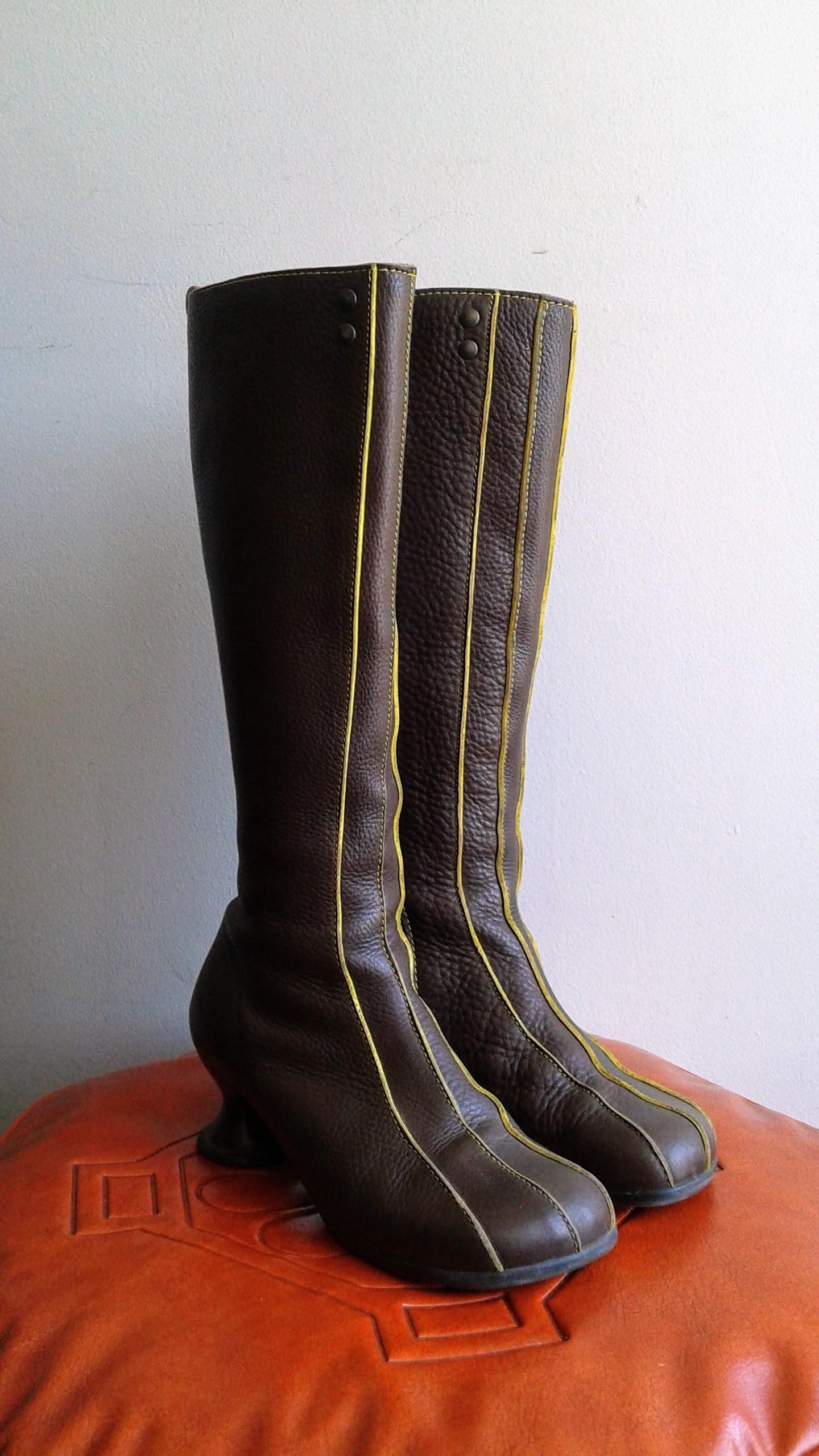 Fluevog boots; S7, $110