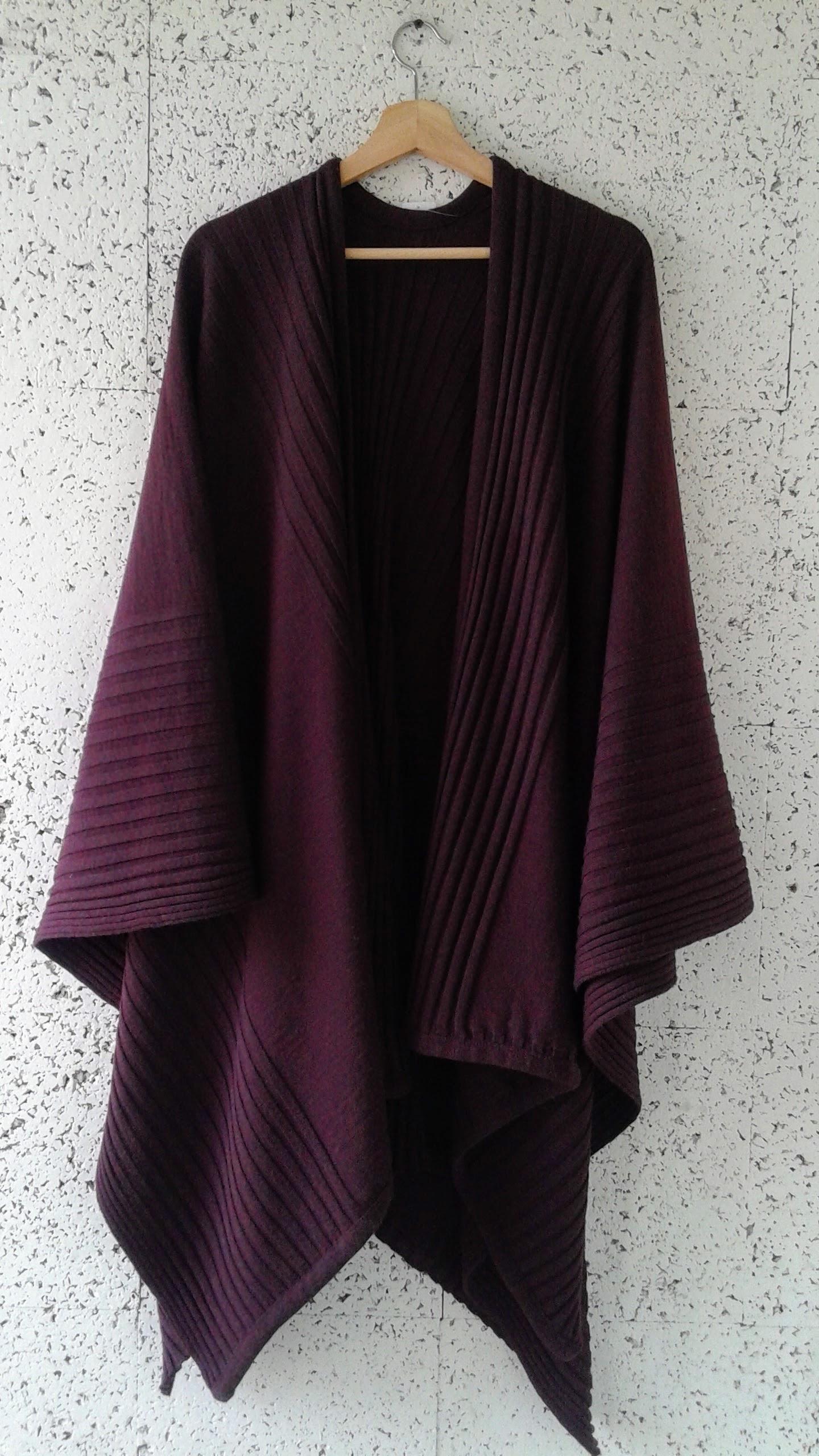 Open-front cape; $46