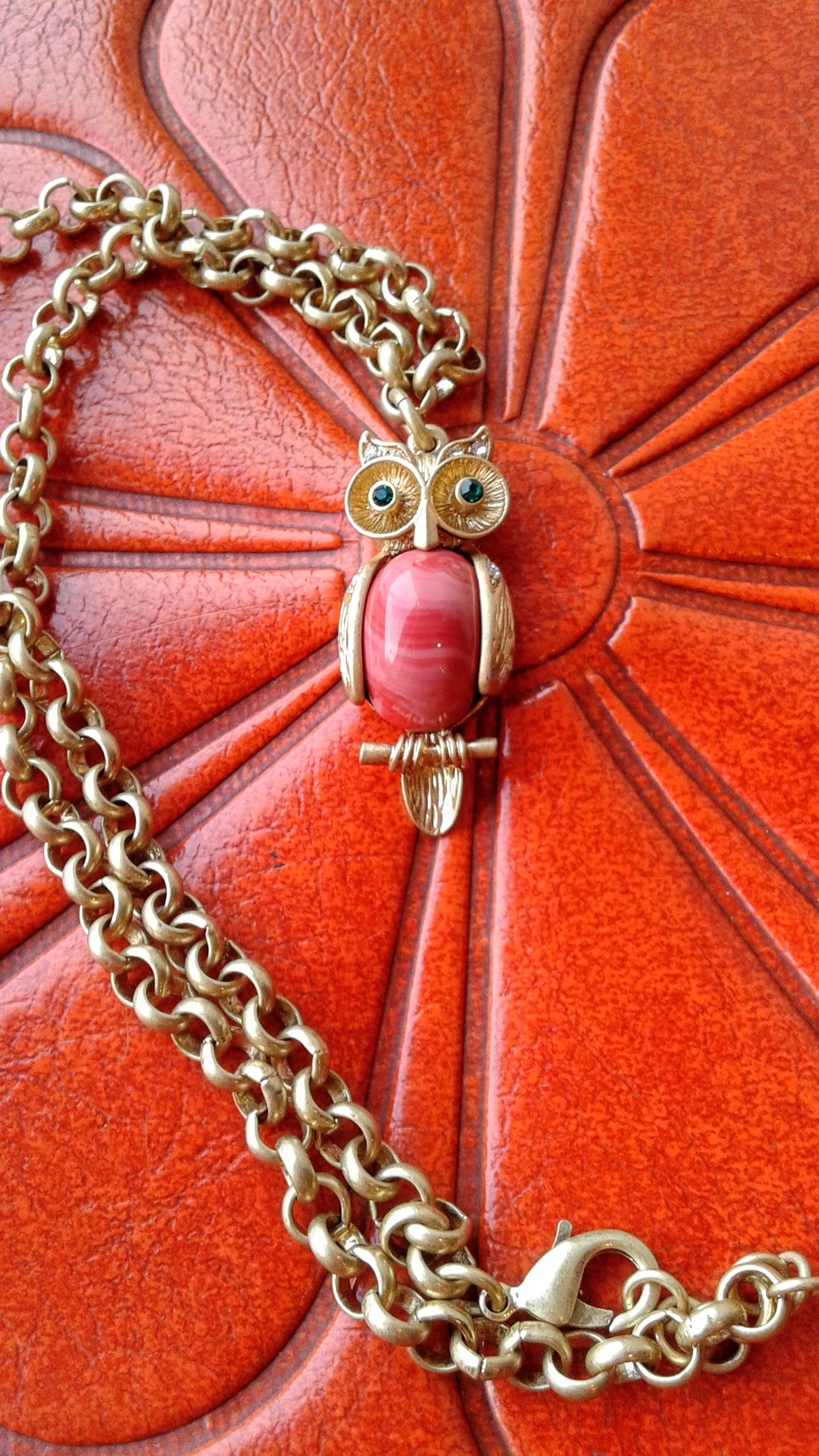 Owl necklace, $24