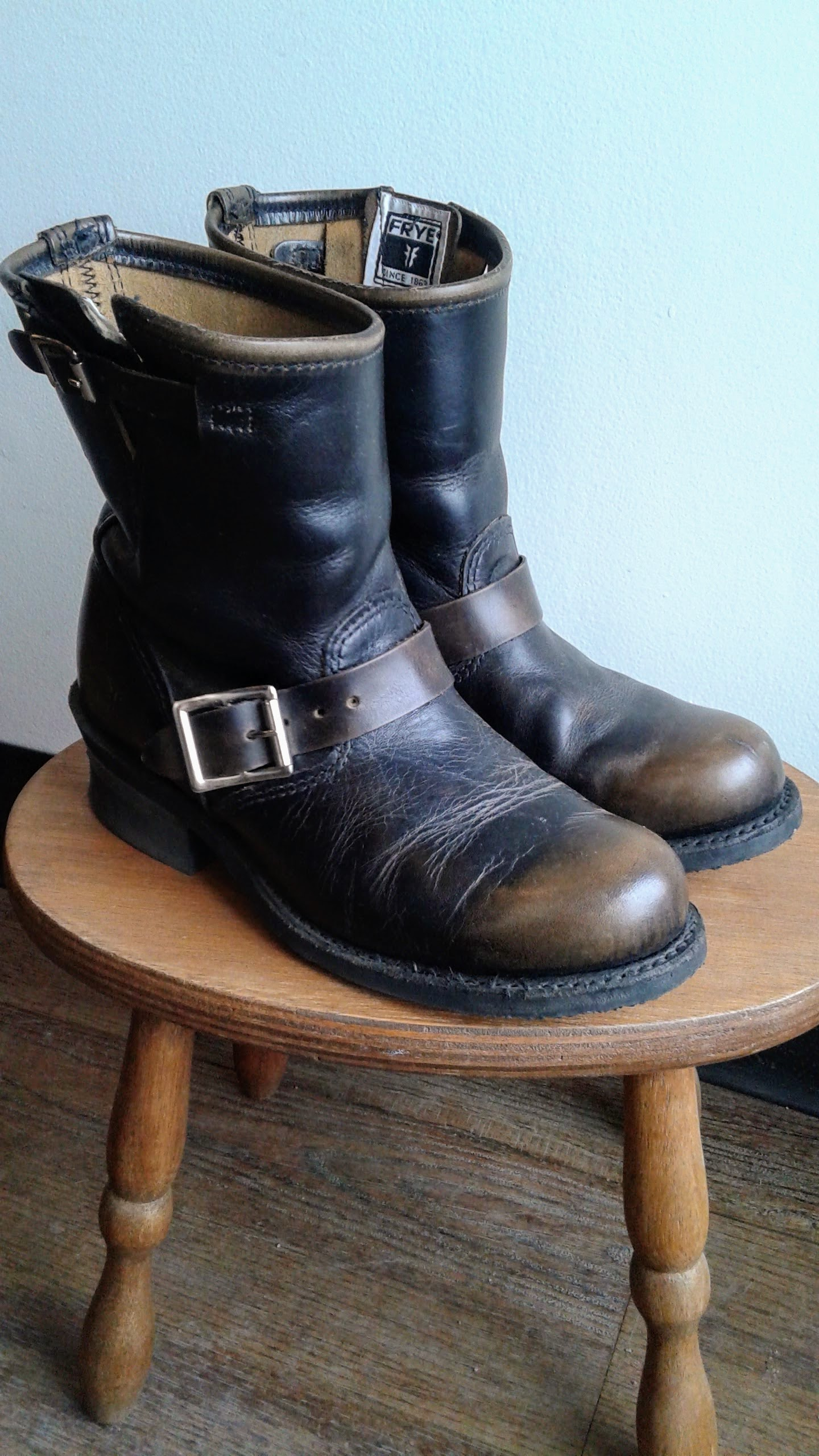 Frye boots; S6, $85