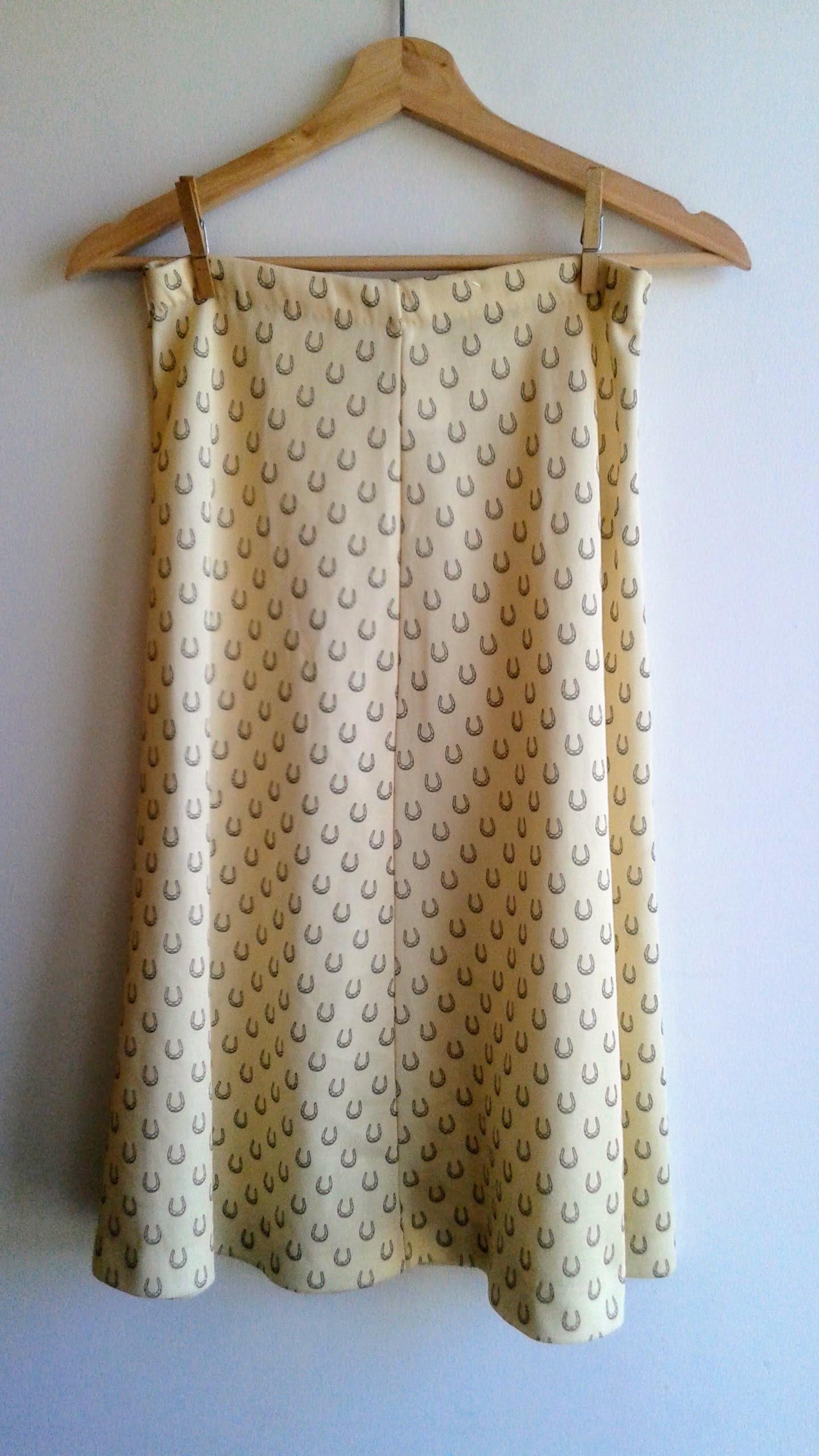Horseshoe skirt; Size S, $20