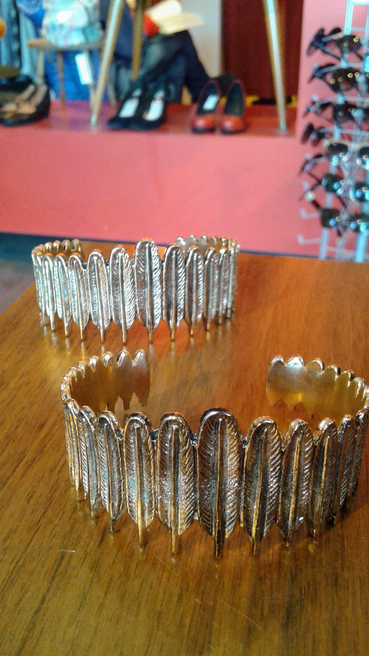 Feather cuffs, $12 each