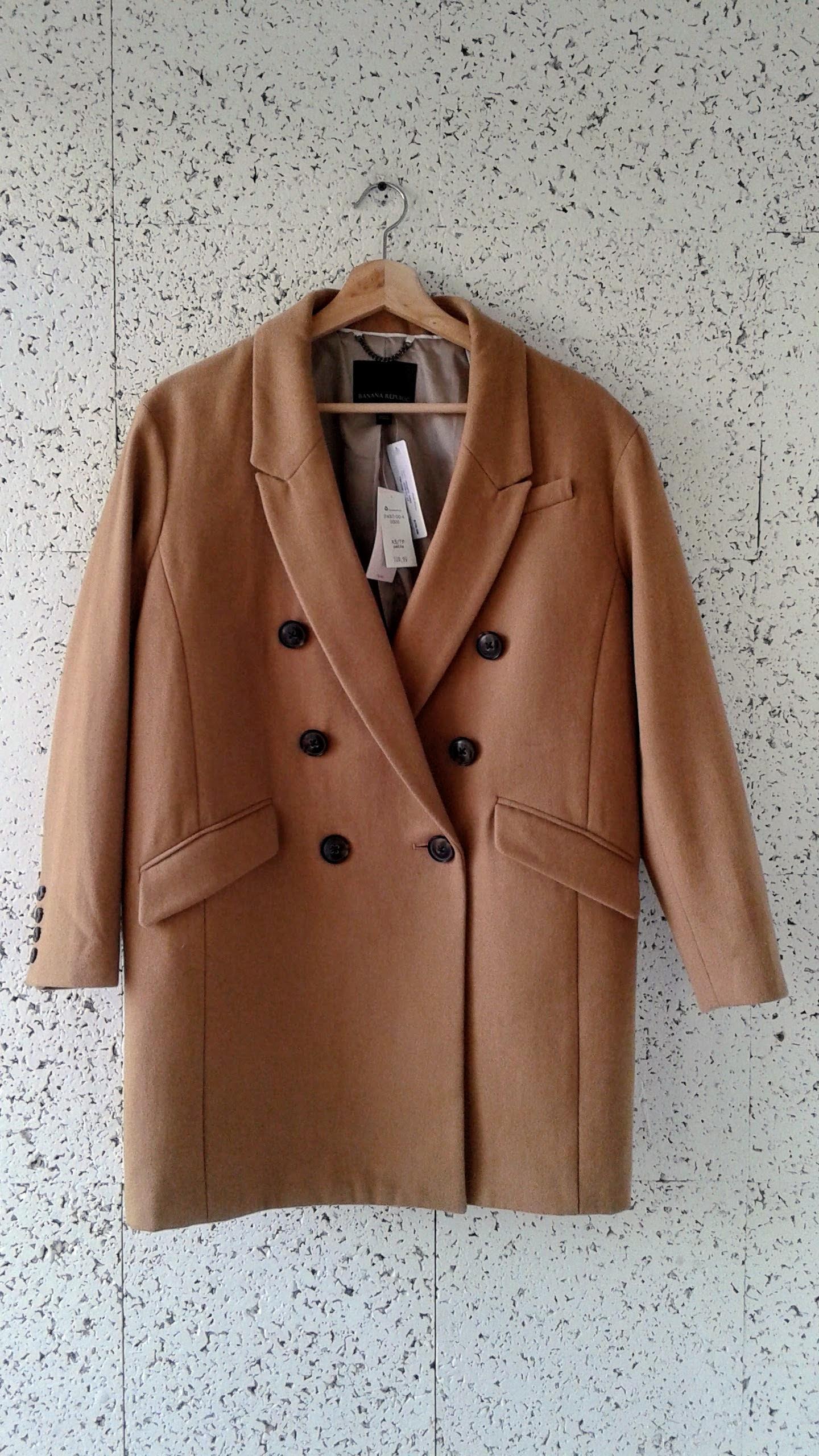 Banana Republic  coat (NWT); Size XS, $78