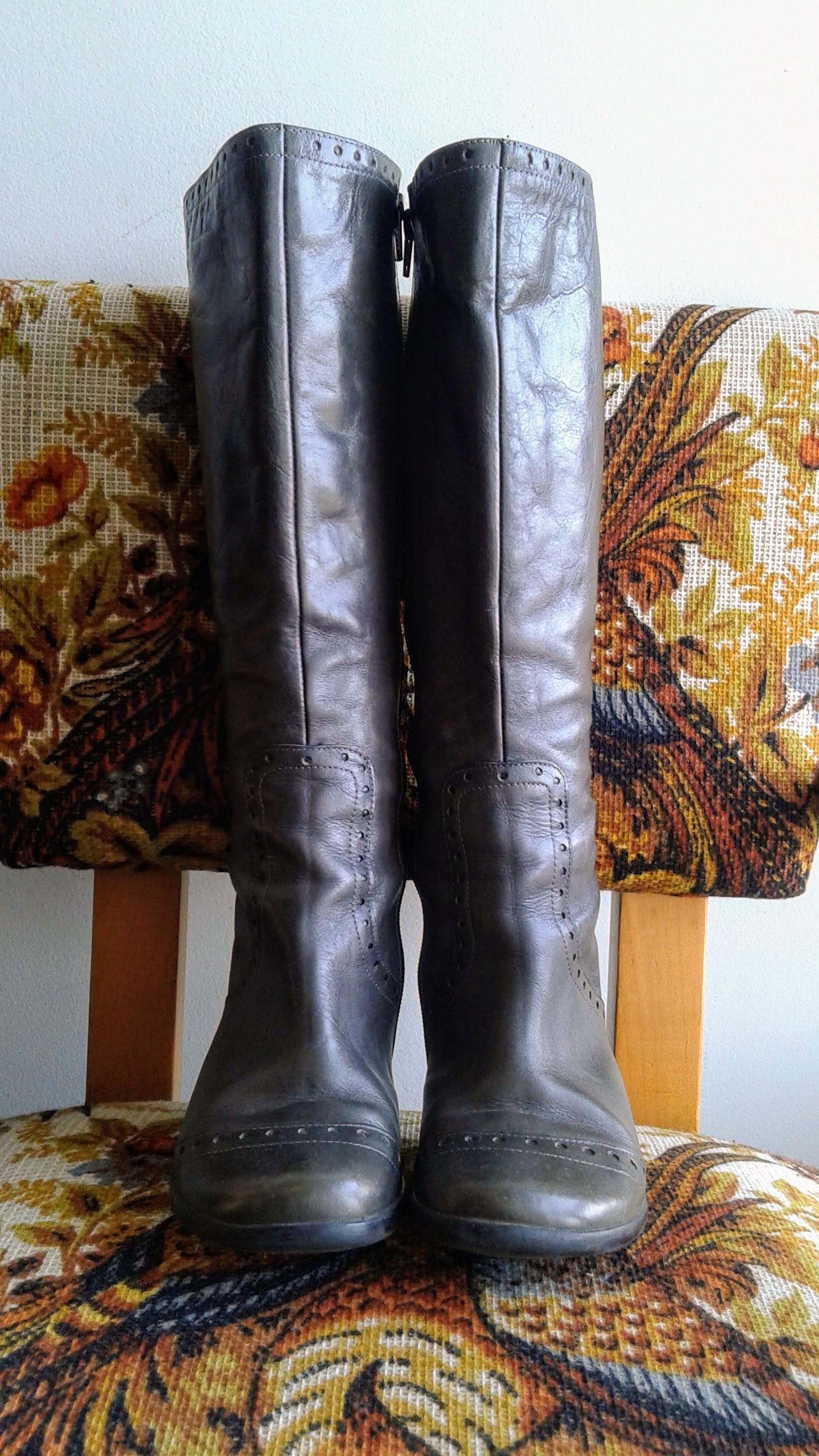 Fluevog boots; S6.5, $48