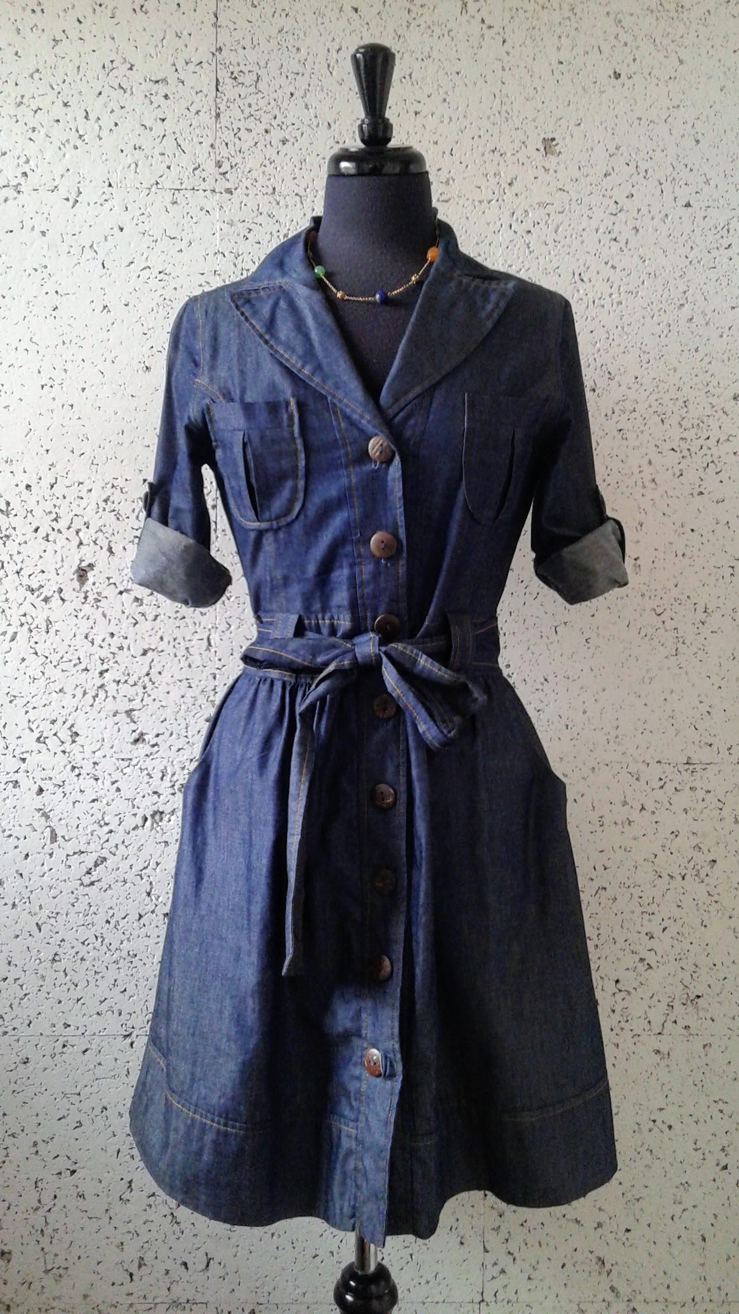 Denim dress; Size S, $30