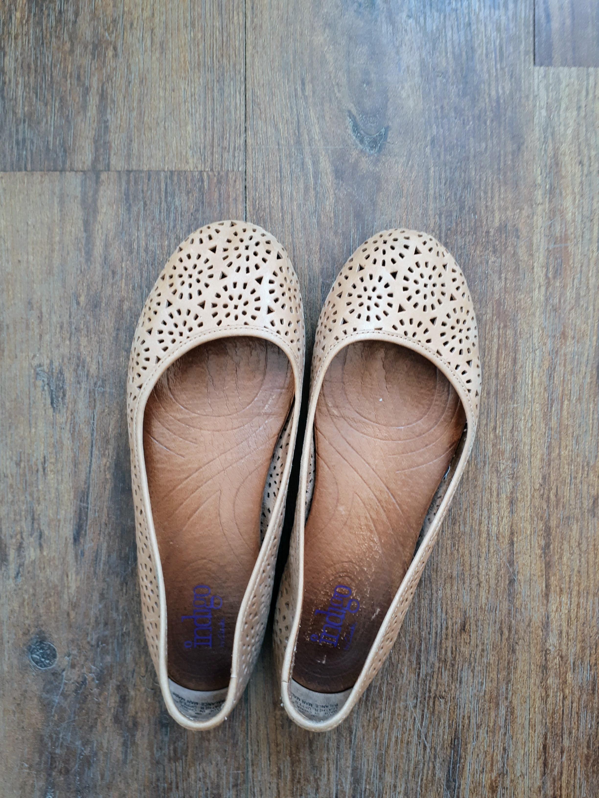 Indigo shoes; Size 6, $36