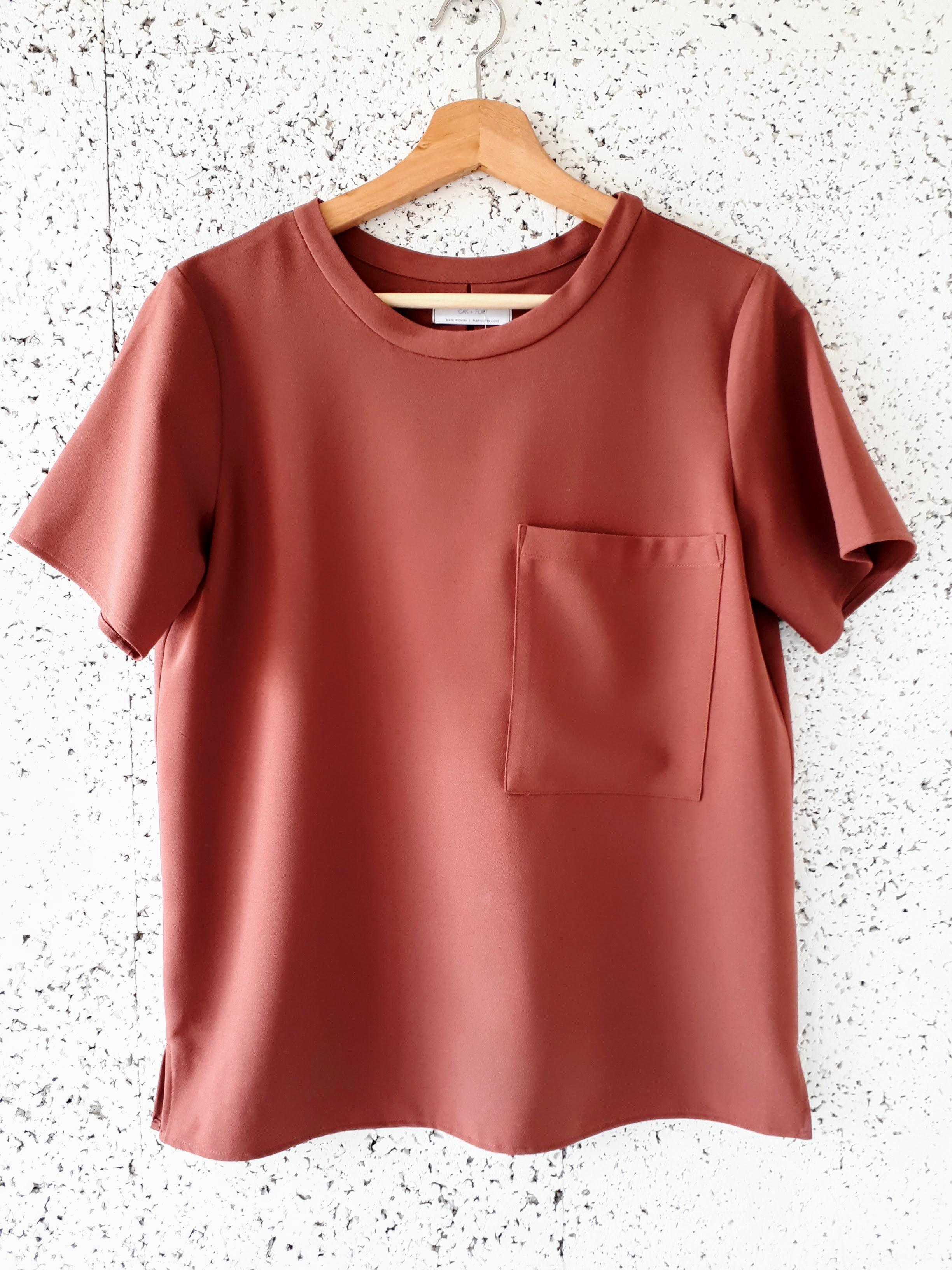 Oak and Fort top; Size S, $40