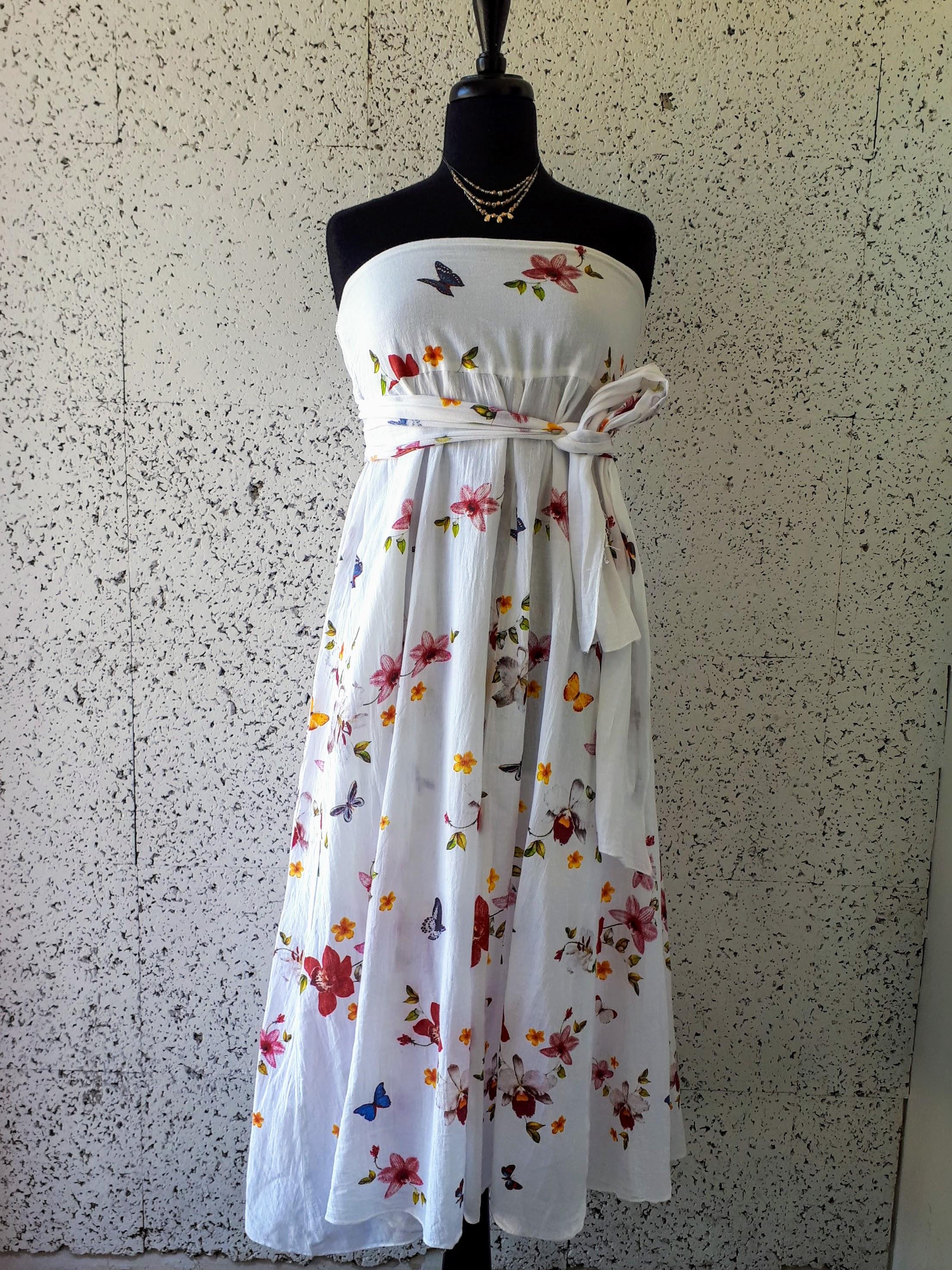 White dress; Size M, $38