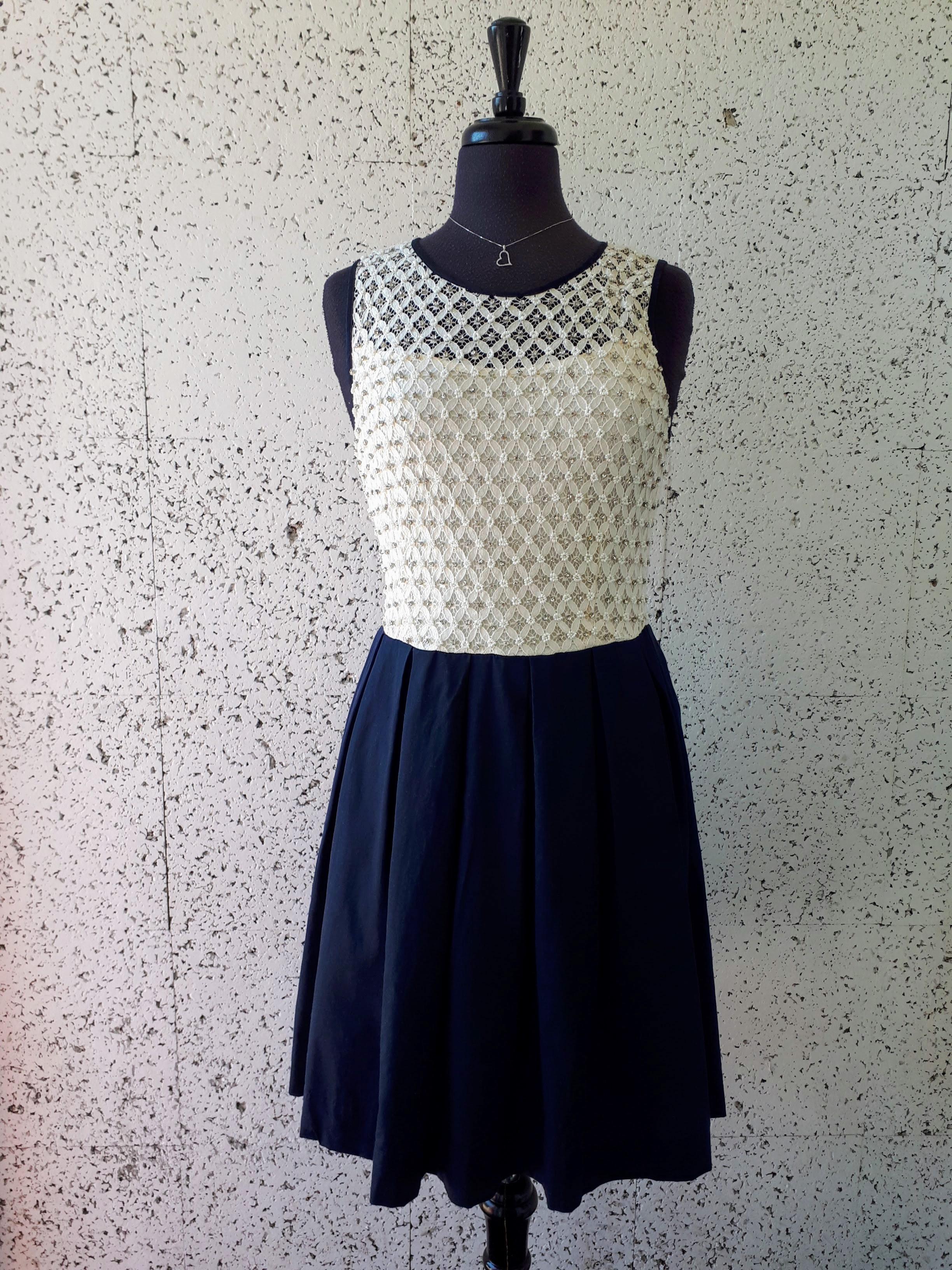 Beaded dress; Size M, $38