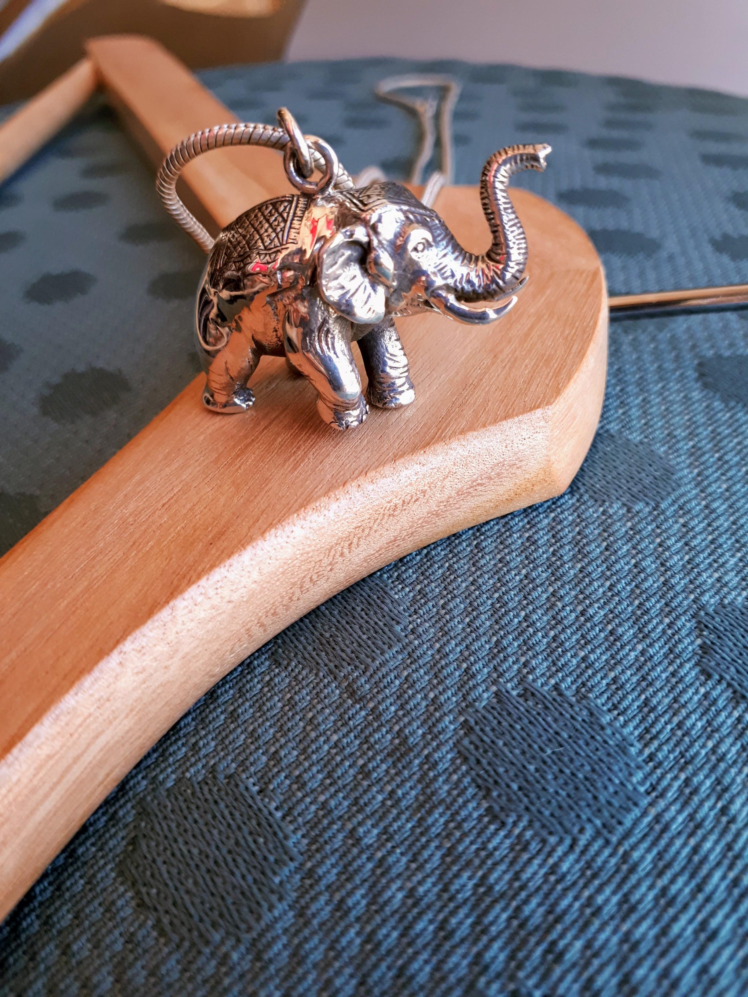 Elephant necklace, $40