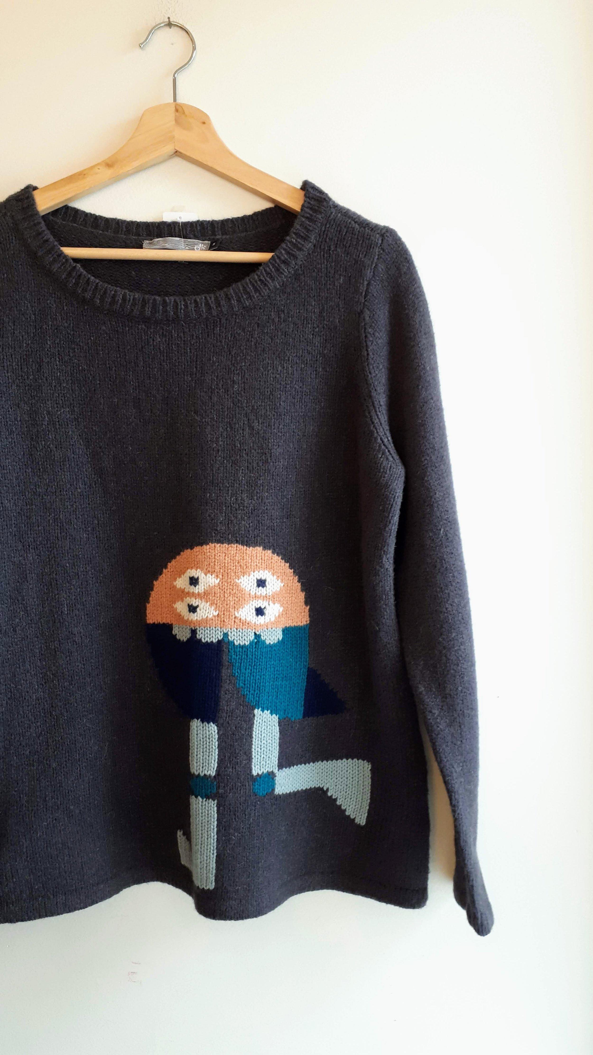 Elk sweater; Size M, $30