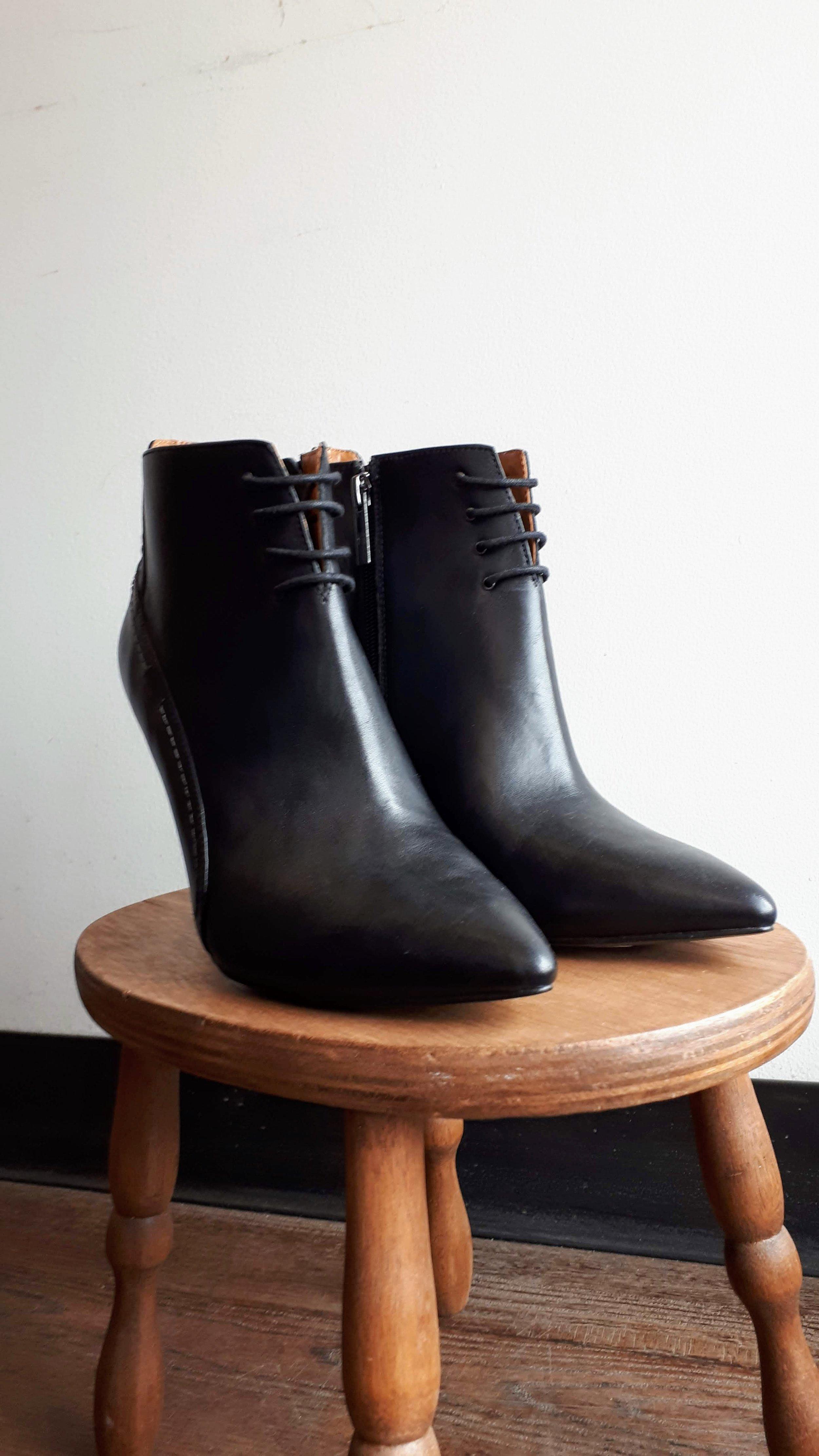 Halston boots; S8.5, $175