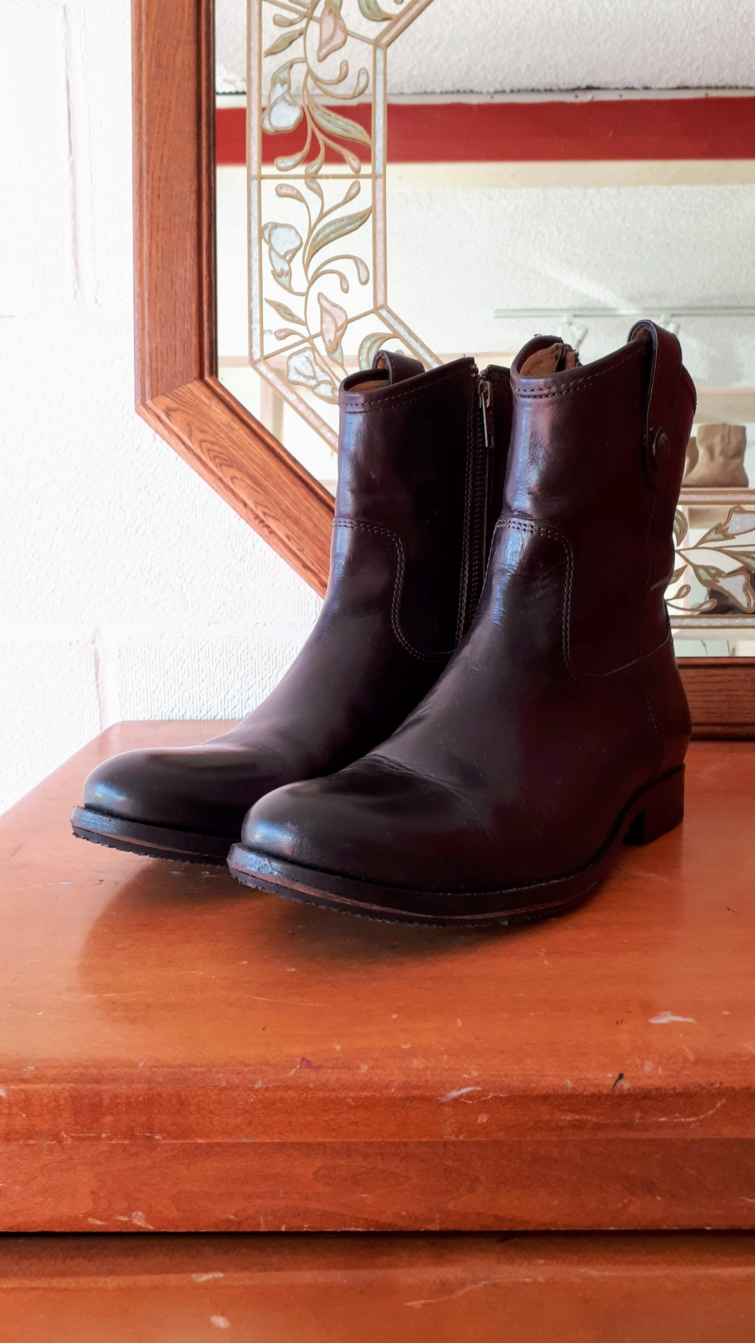 Frye boots; S8, $175