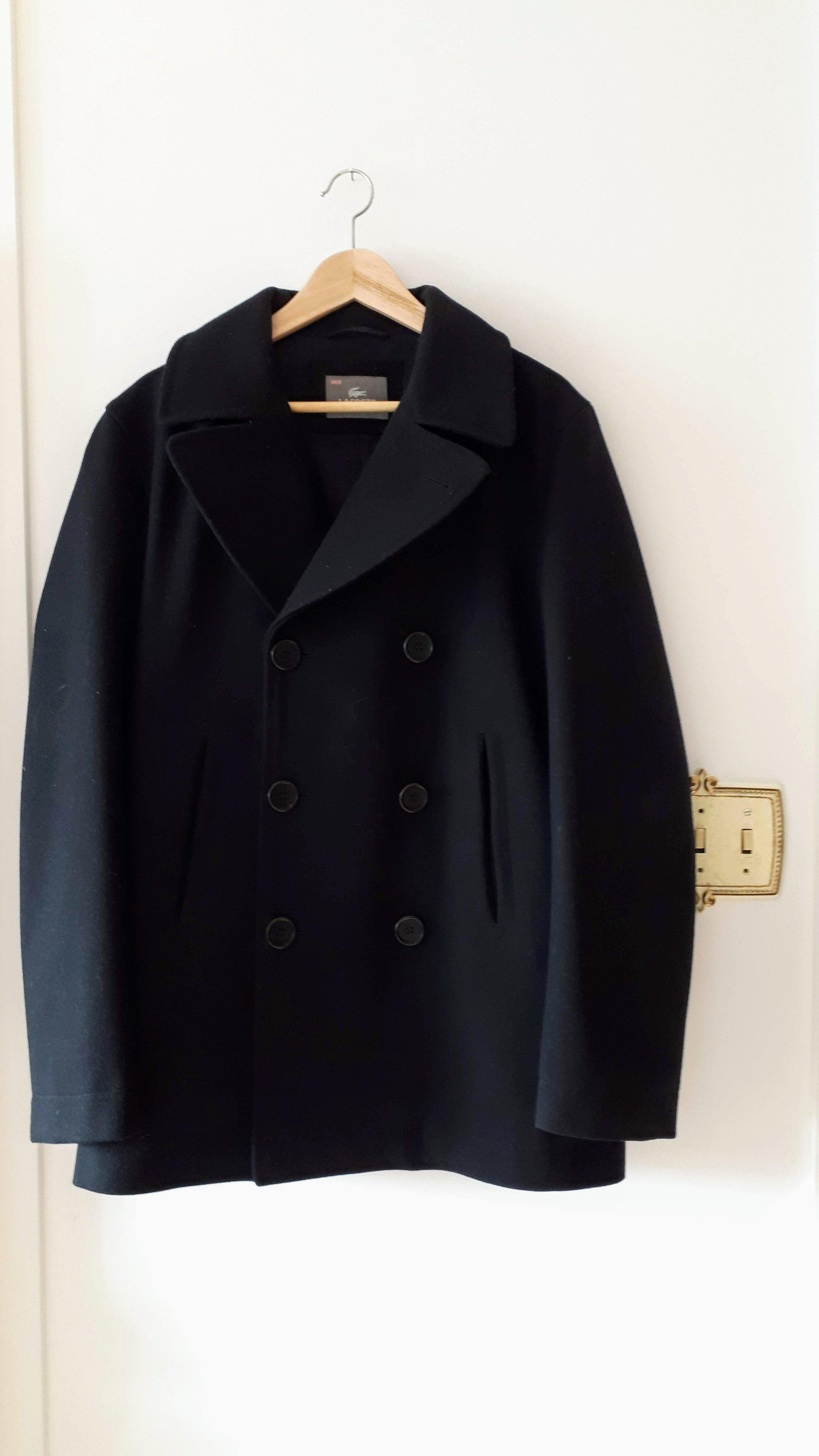Mens Lacoste coat; Size S, $325