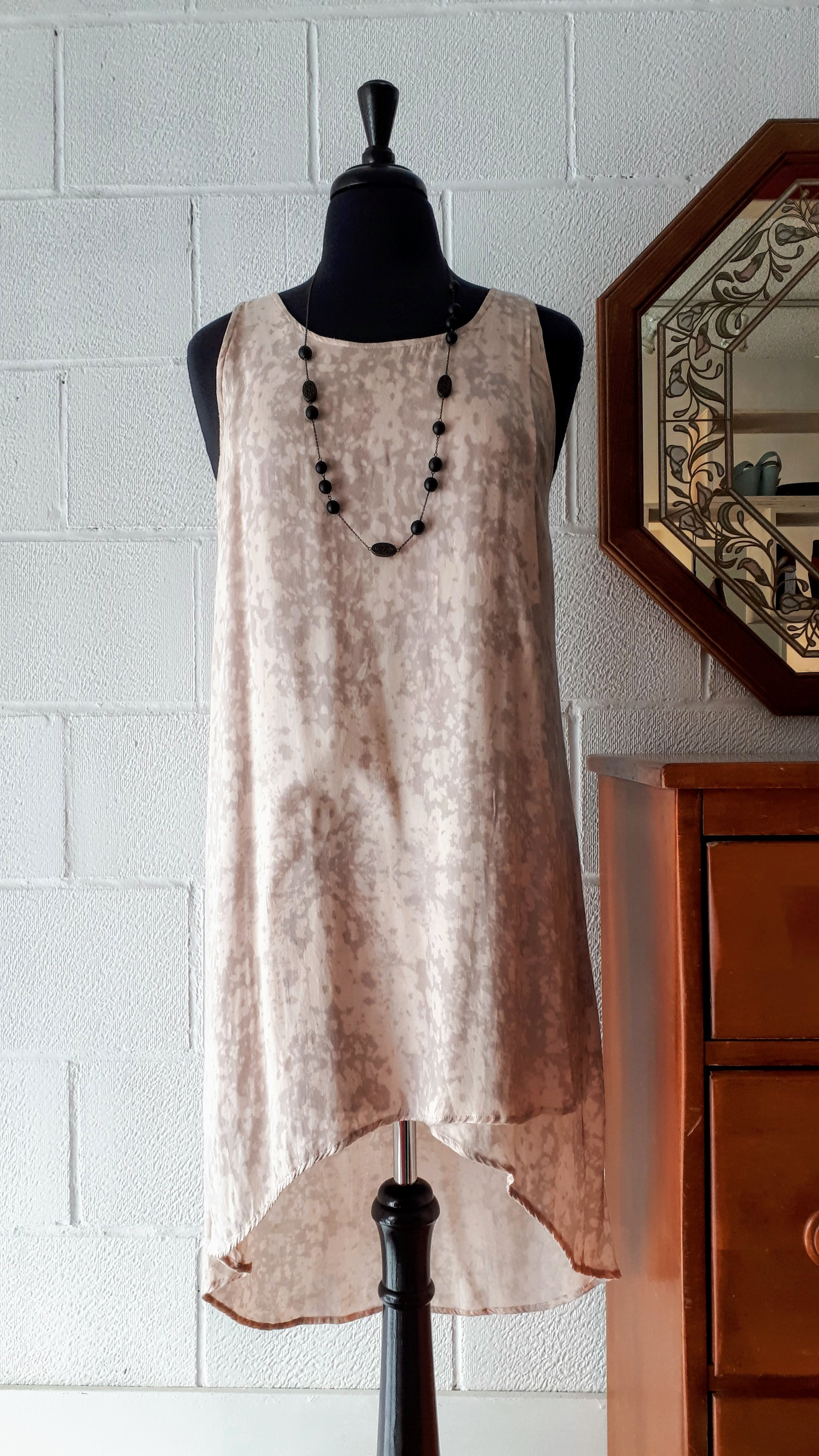 Gentle Fawn dress; Size 8, $40. Necklace, $18