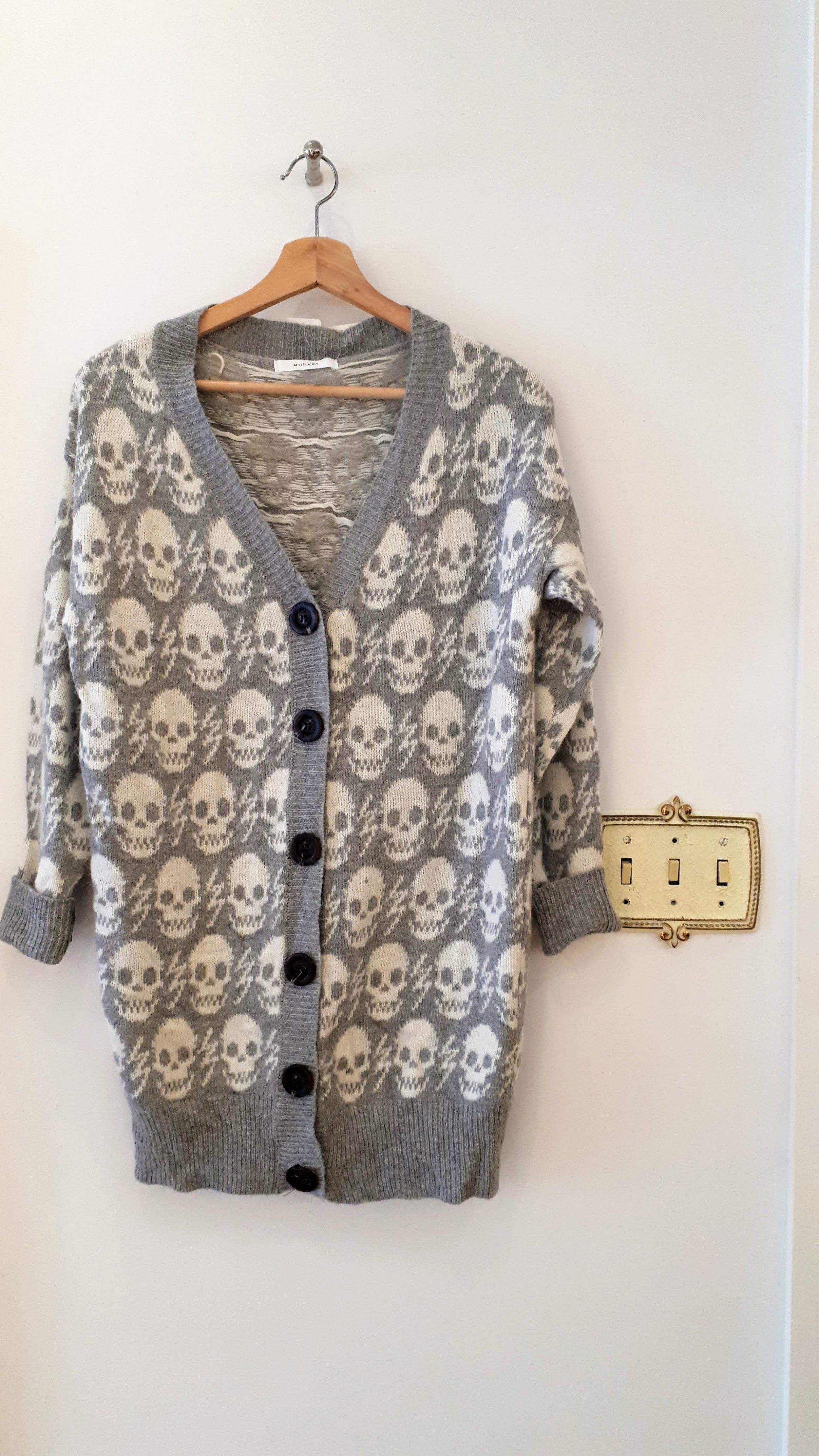 Monkey sweater (NWT); Size M, $30