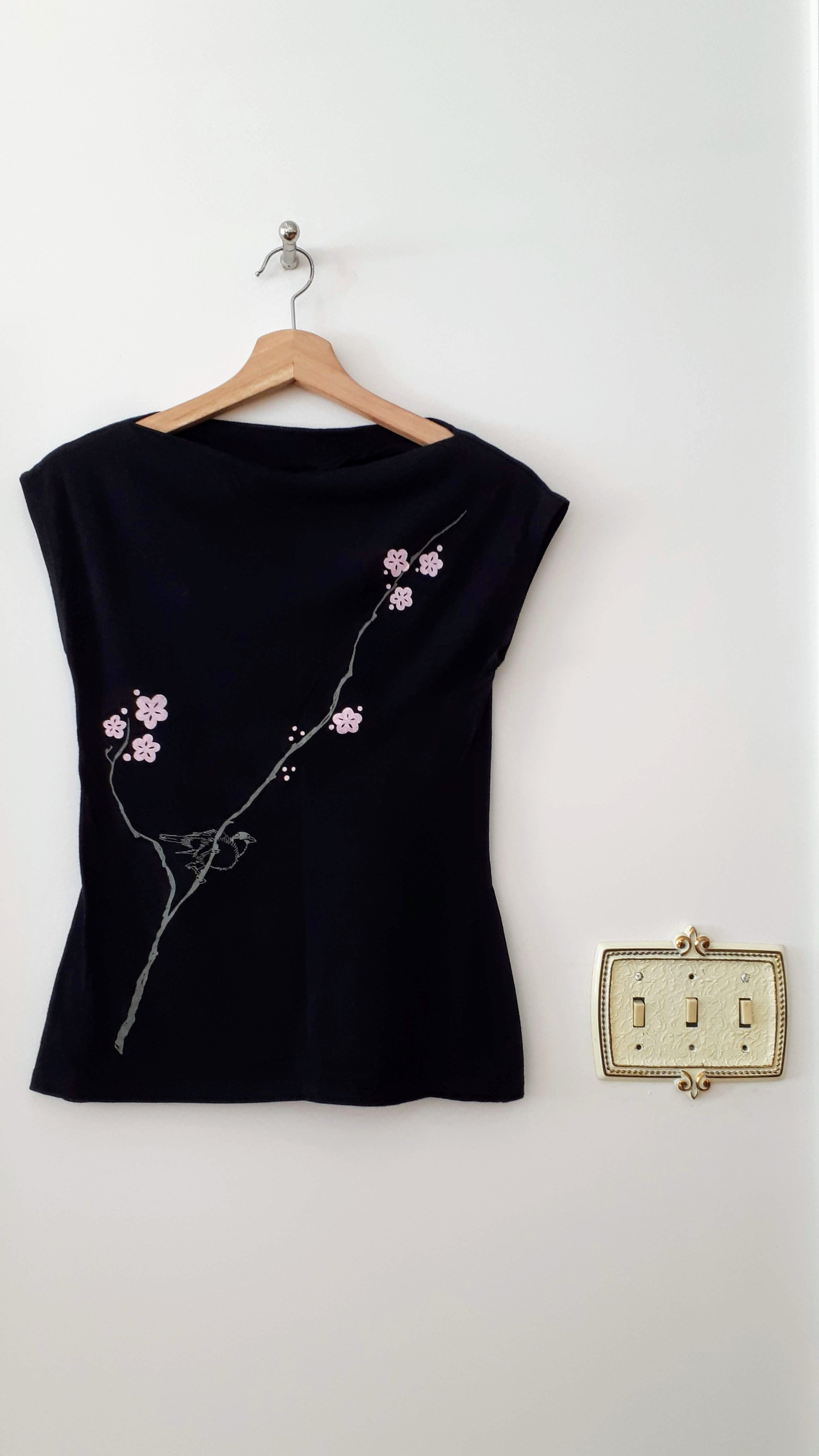 Smoking Lily top; Size S, $26