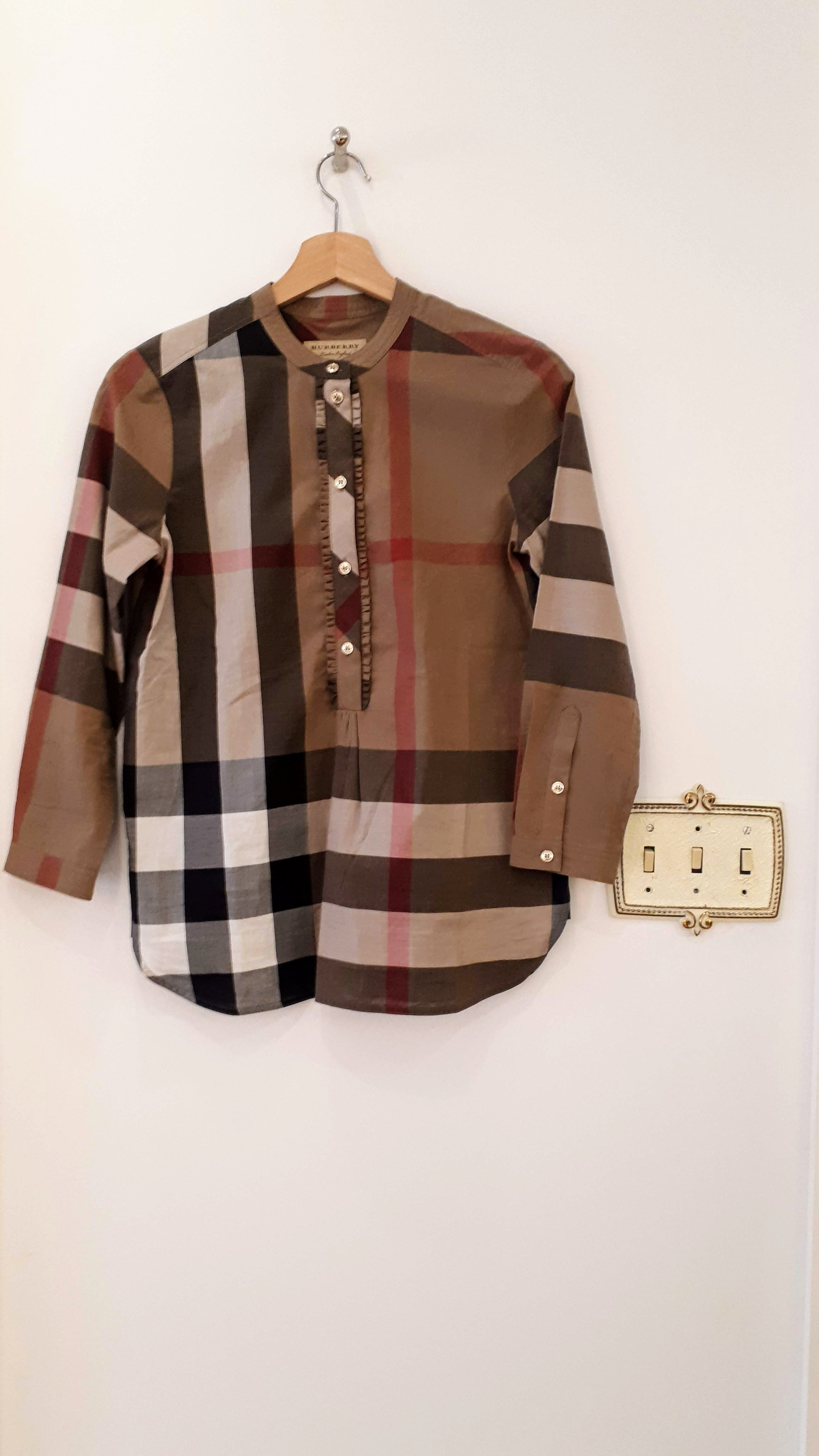 Burberry top; Size S, $42