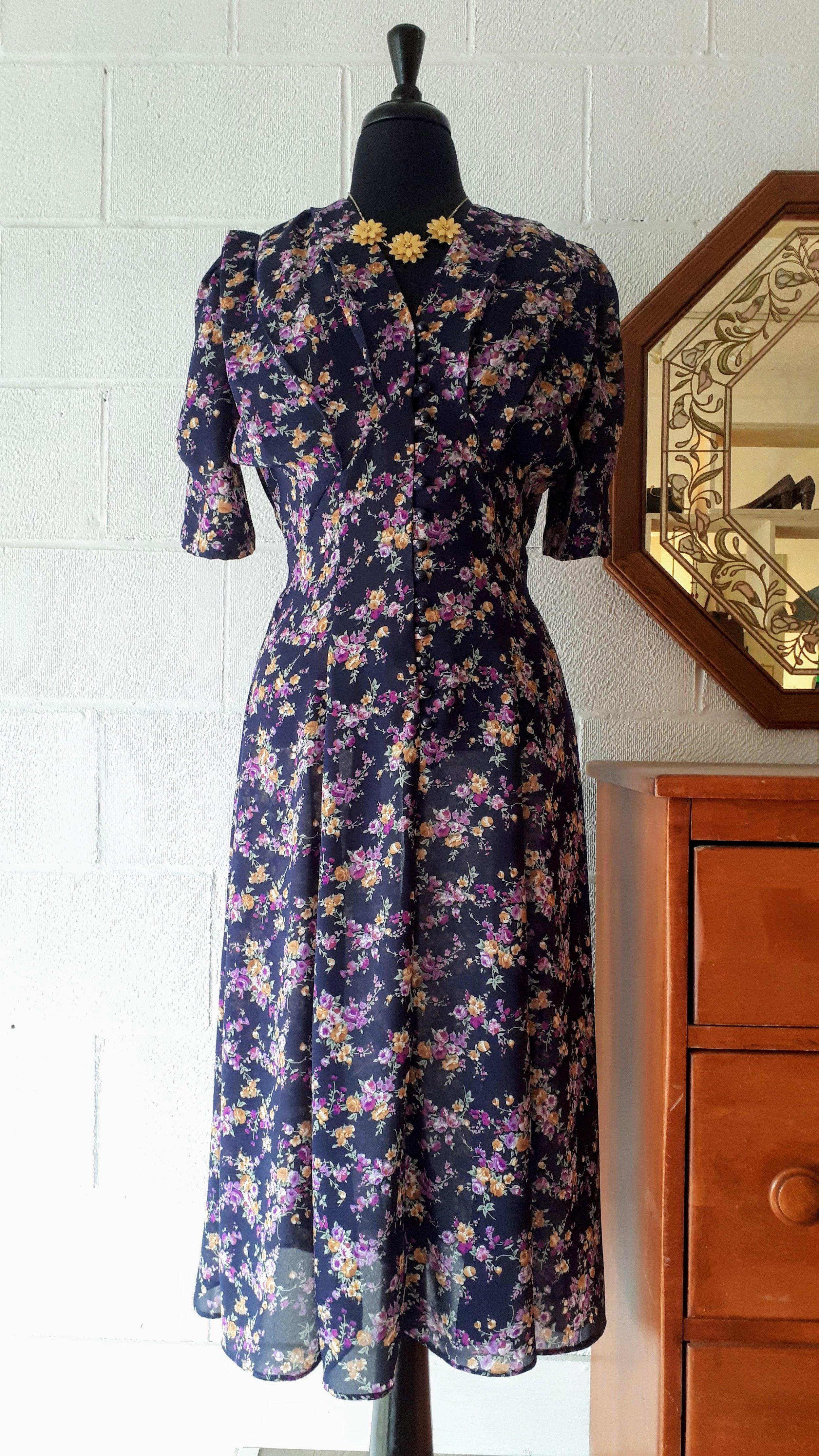 Floral dress; Size M, $28