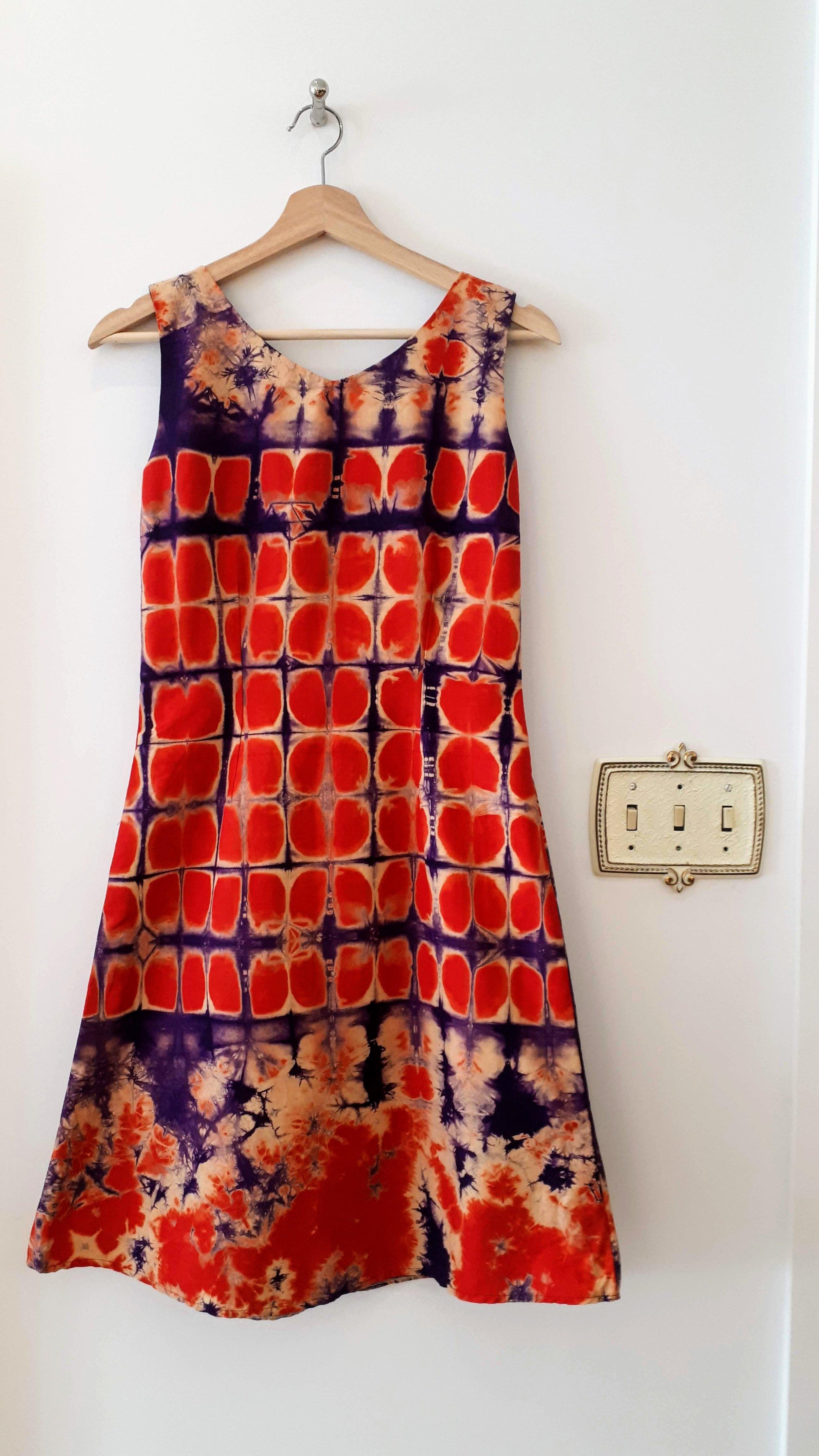 Batik dress; Size S, $26