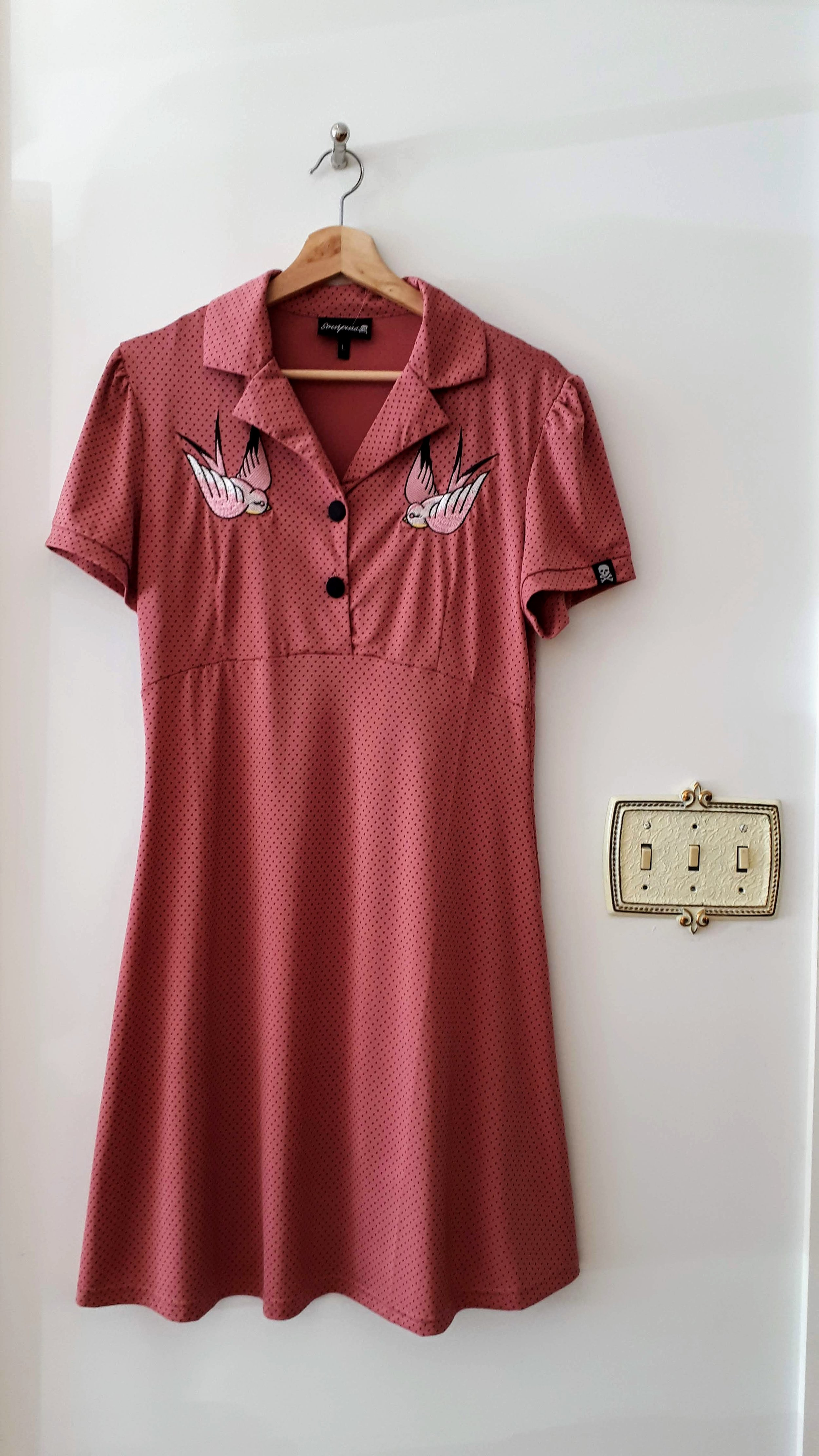 Sourpuss dress; Size L, $42