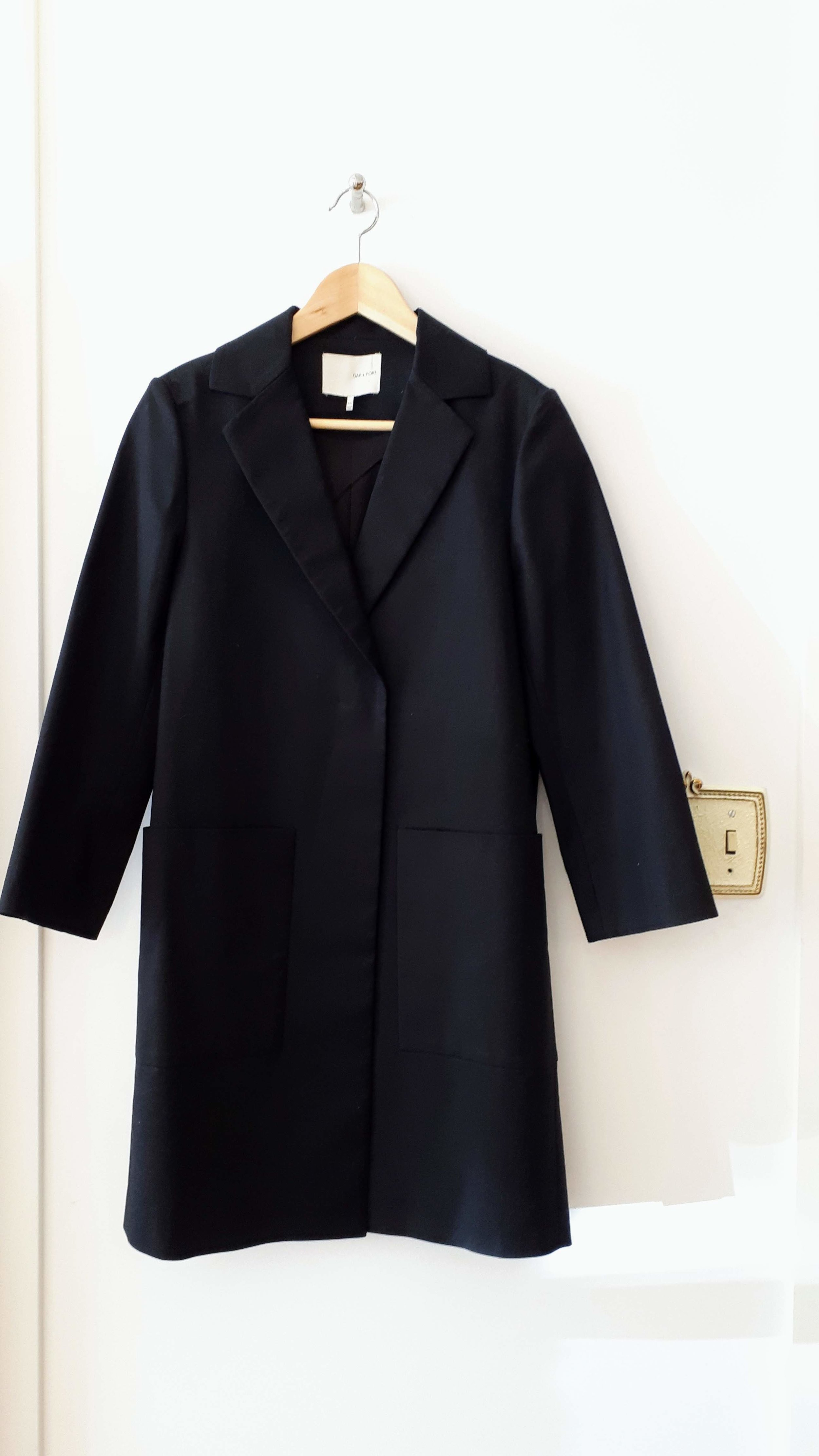 Oak + Fort coat; Size XS, $72