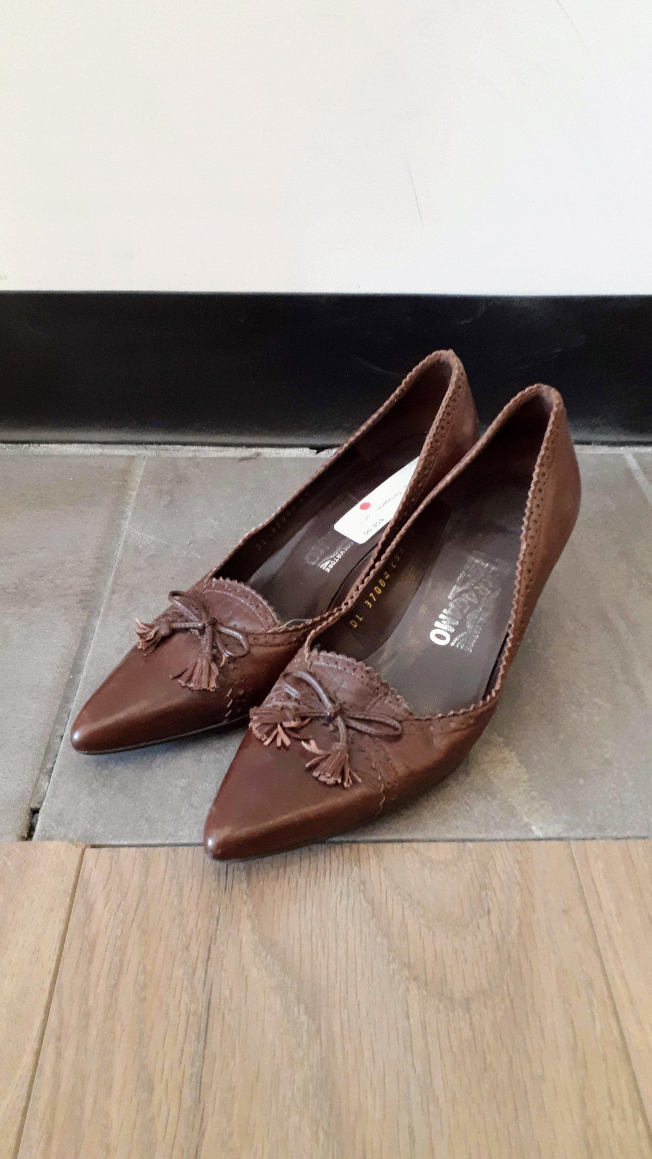 Ferragamo pumps; Size 8, $58 (on sale for $29!)