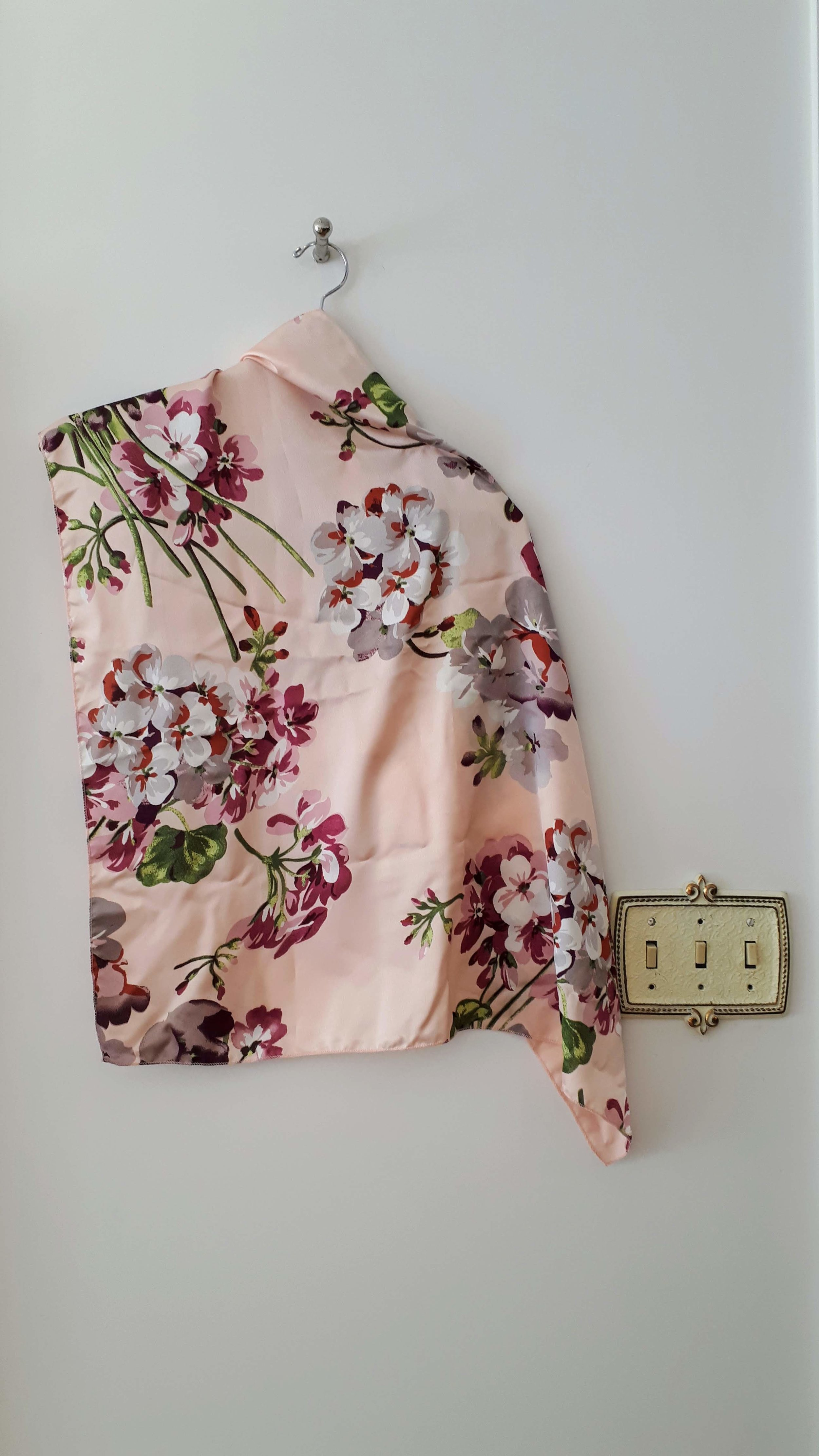 Pink scarf, $12