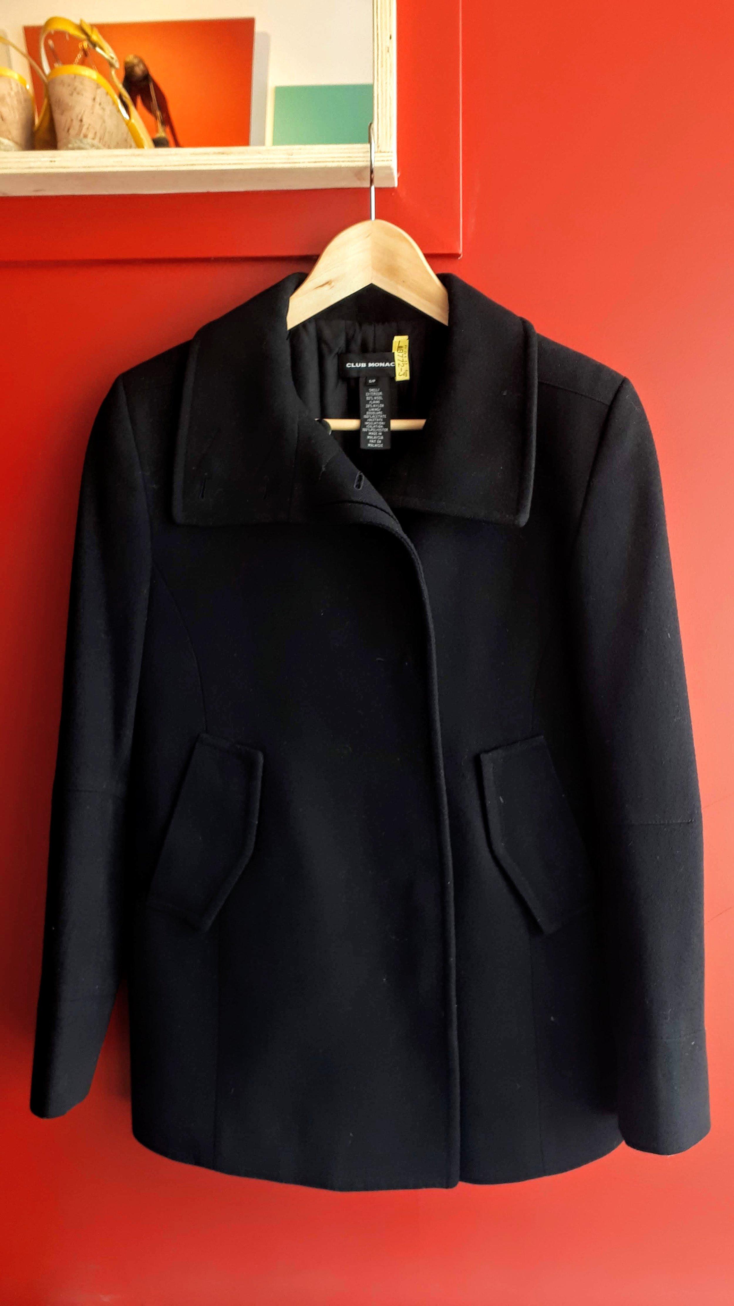 Club Monaco coat; Size S, $40 (on sale for $20!)