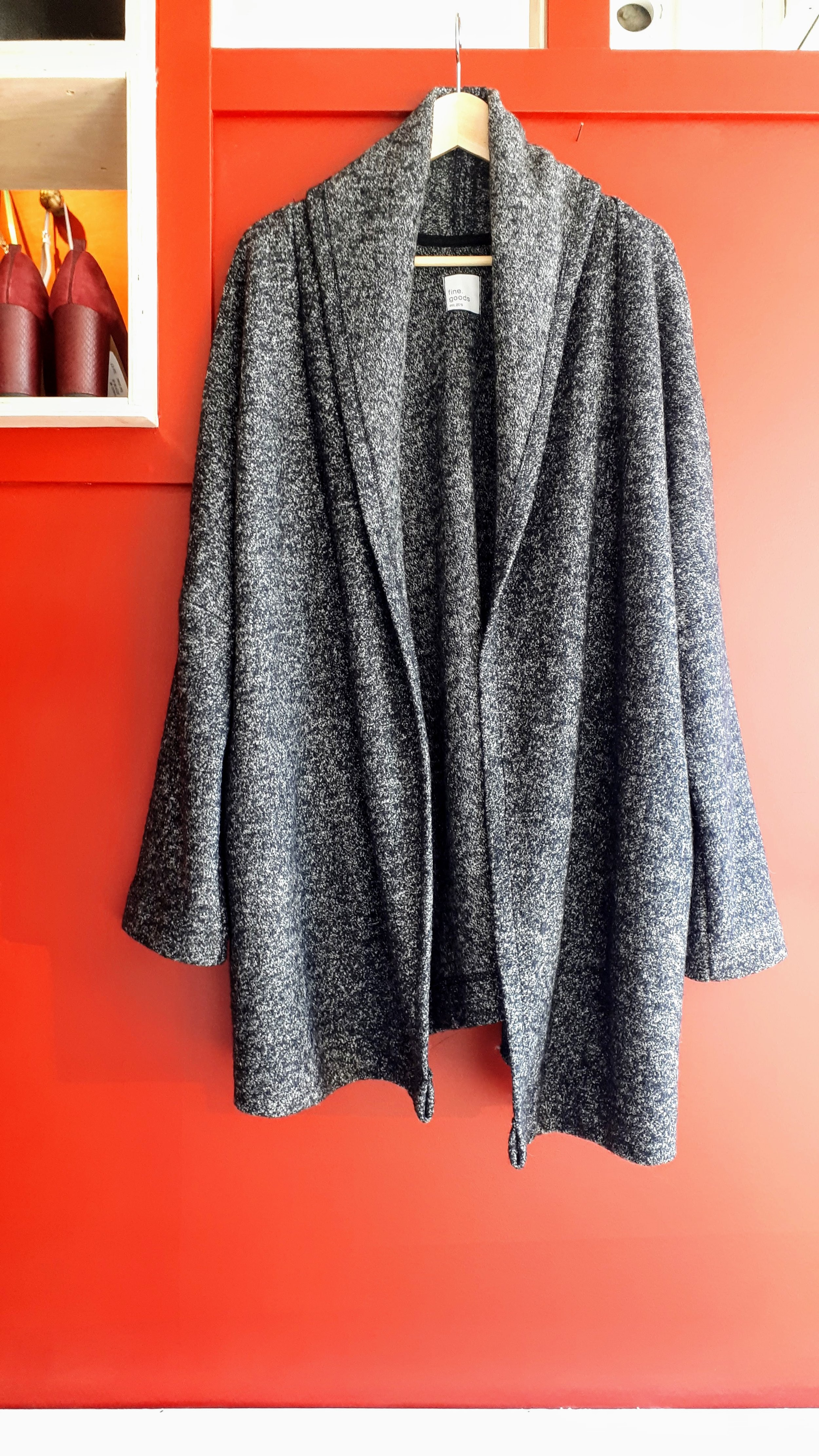 Fine Goods sweater; Size L, $45