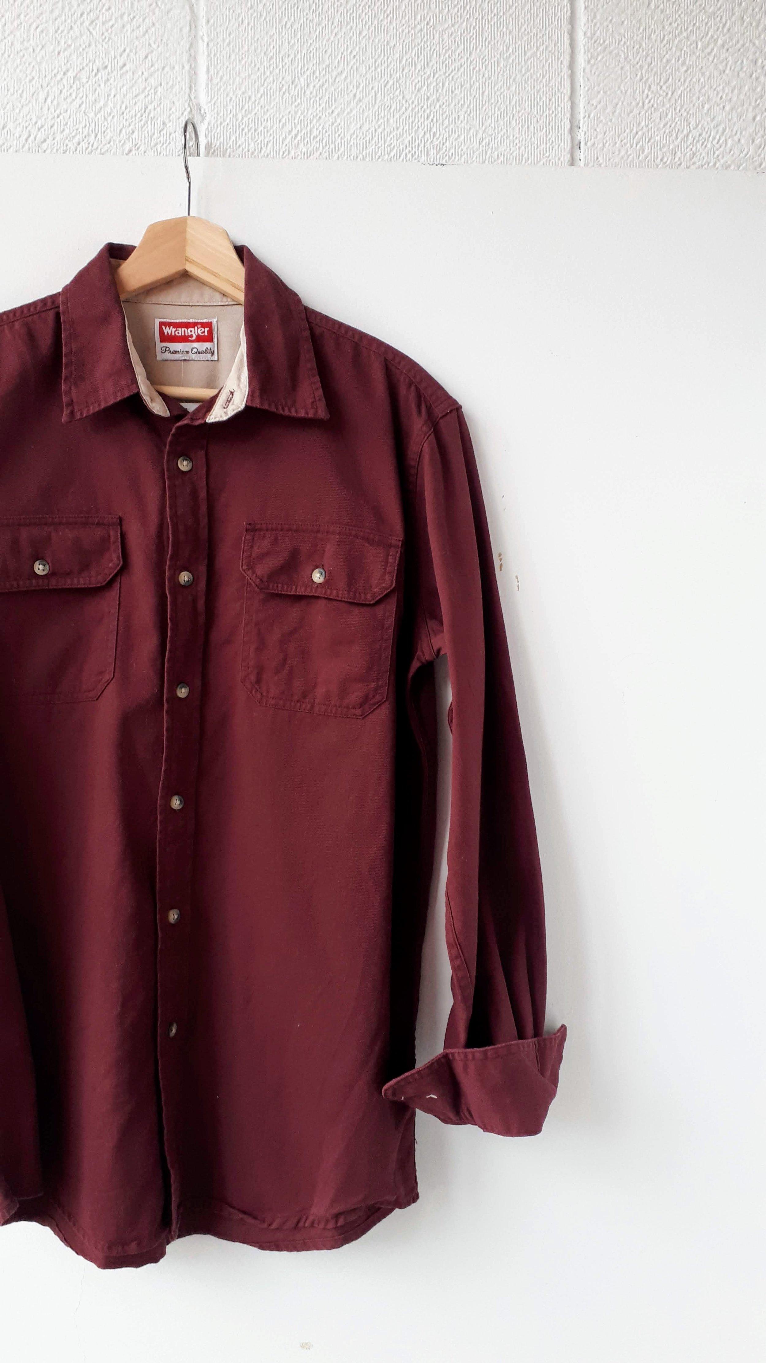 Wrangler shirt; Men's size M, $18