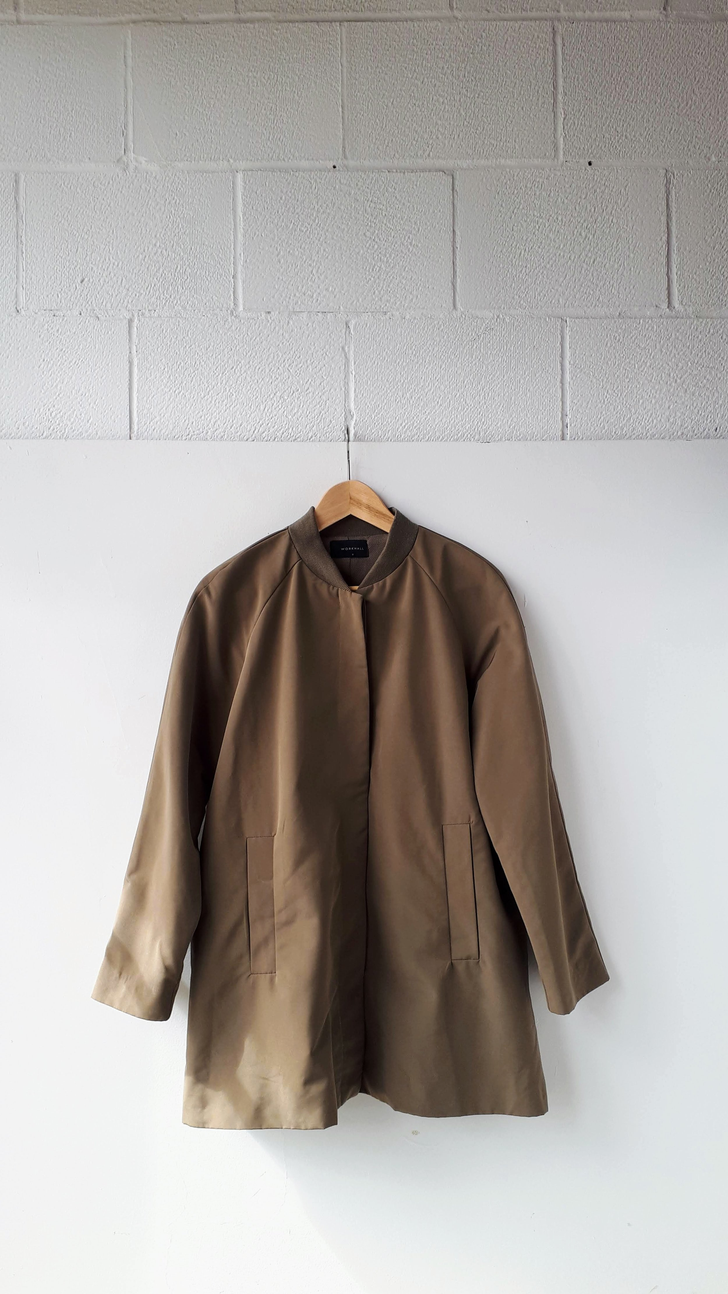 Workhall coat; Size S, $62