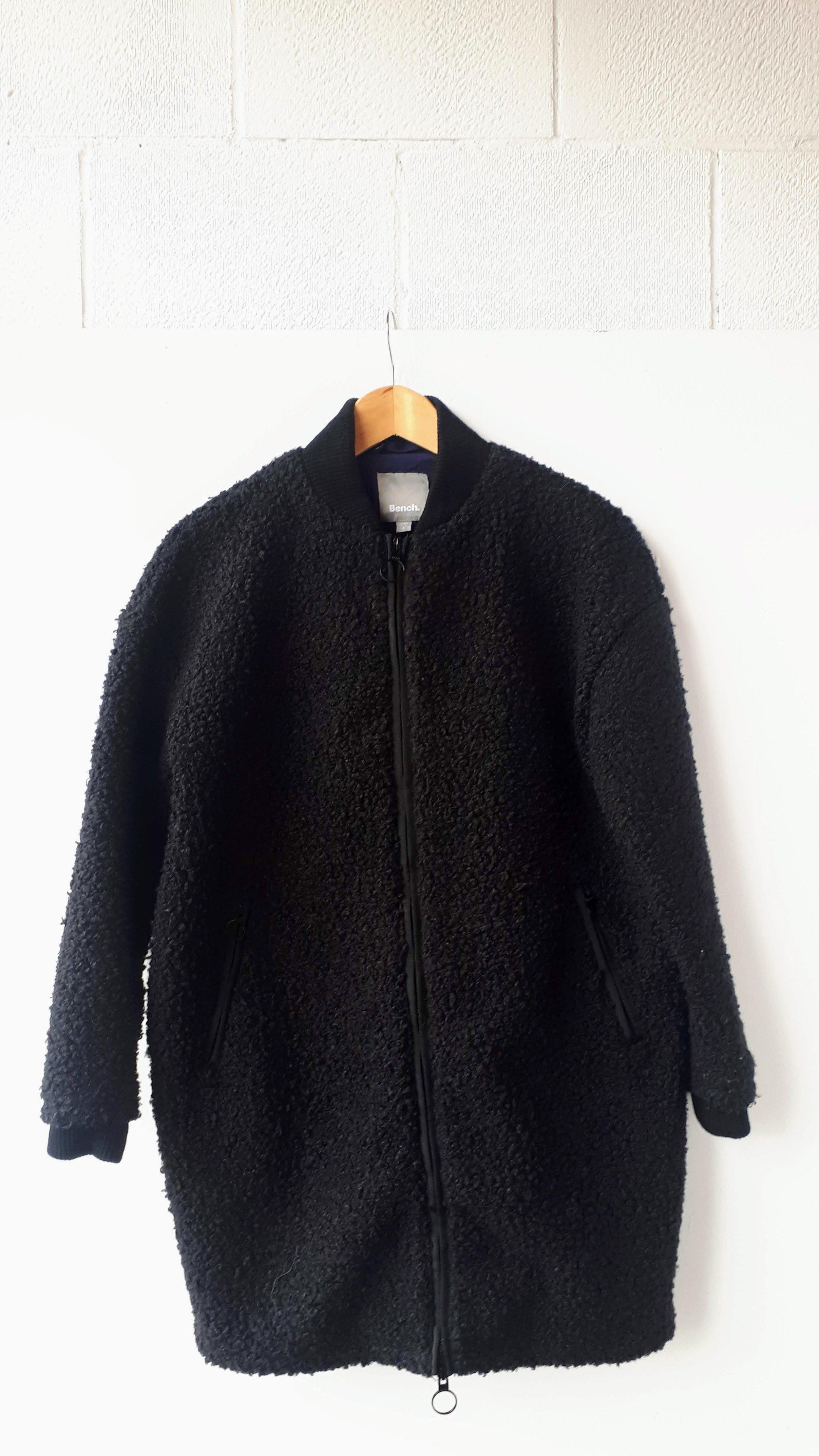 Bench coat; Size S, $89