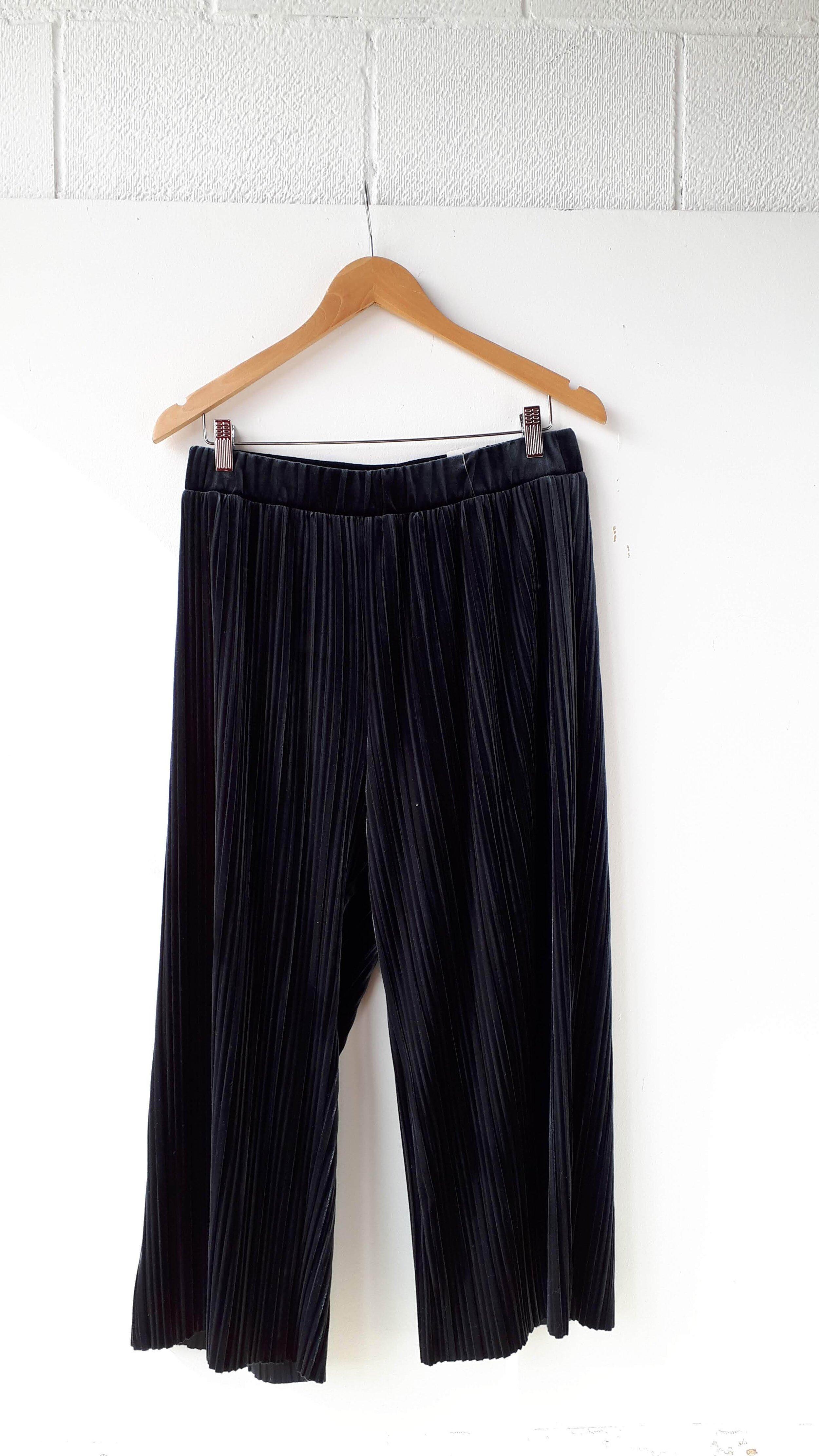 Velvet pants; Size L, $32