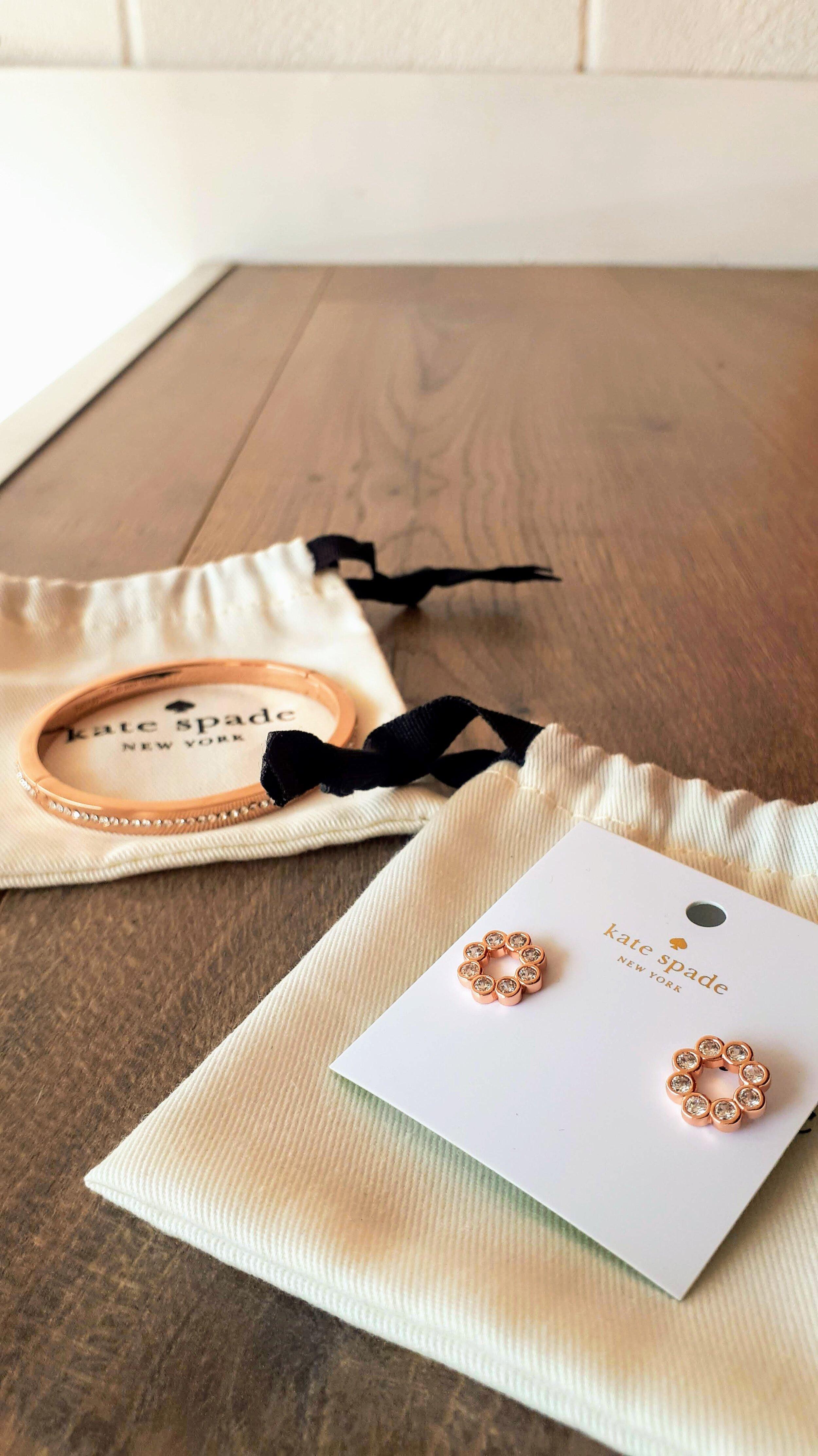 Kate Spade: Bracelet $45. Earrings, $40