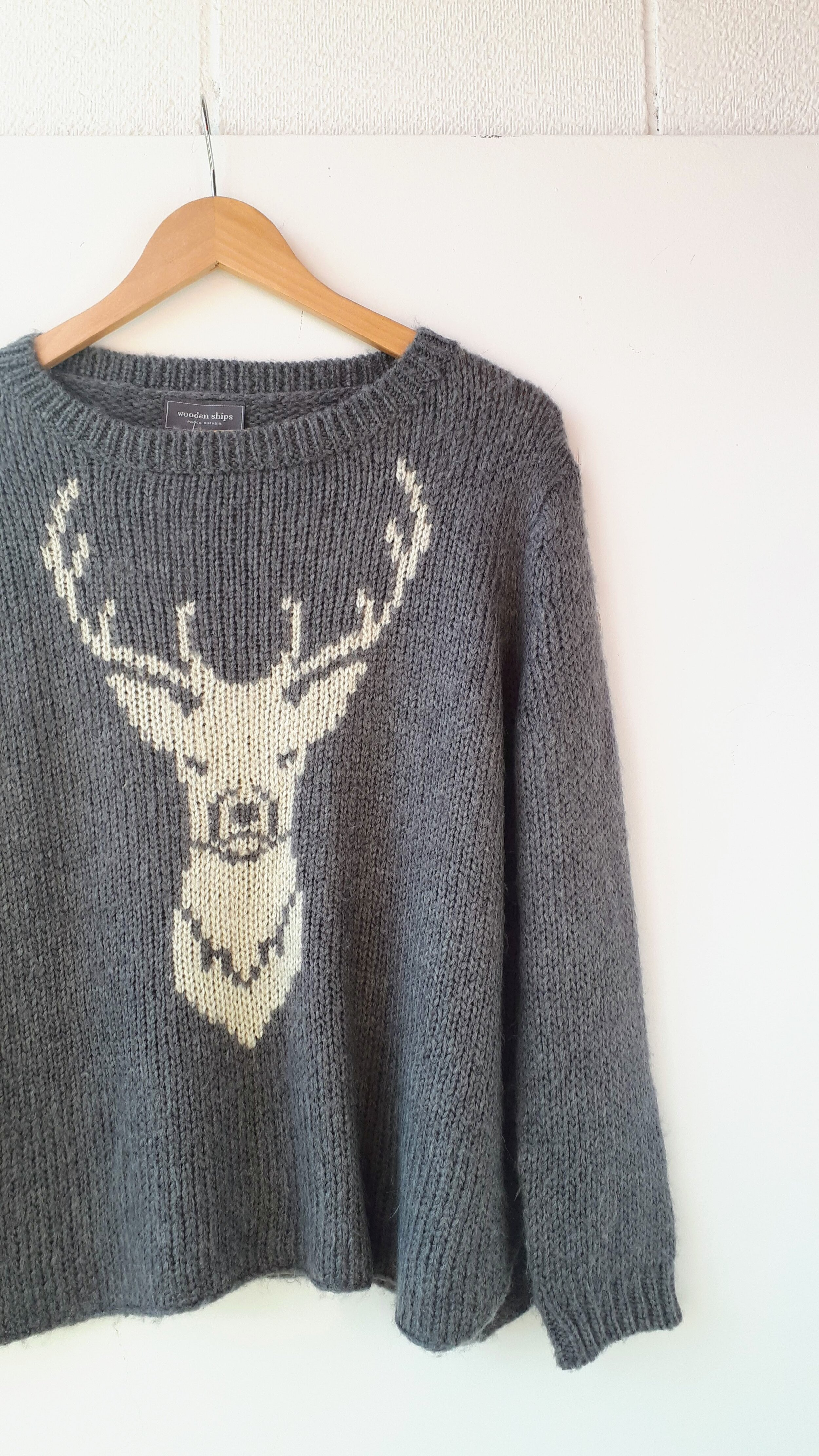 Wooden Ships sweater; Size M, $30