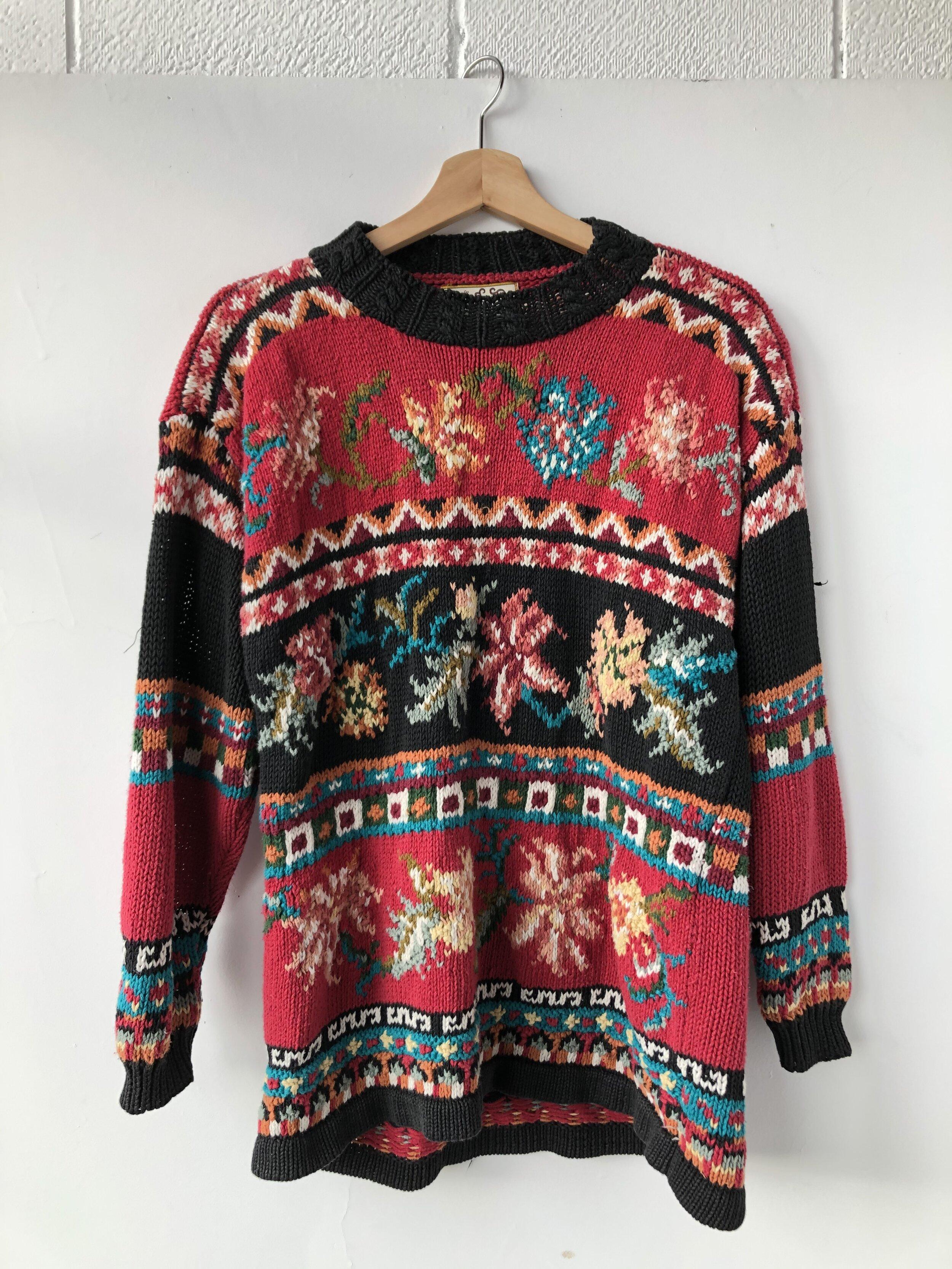 Vintage sweater; Size L, $24