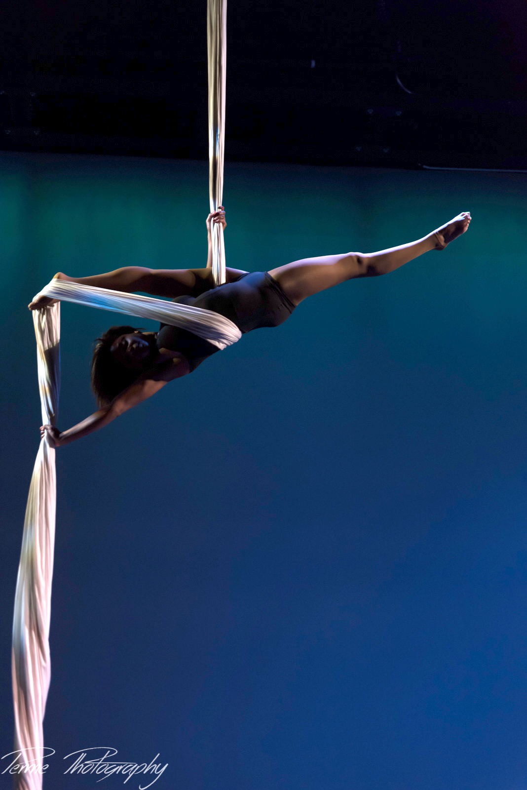 Aerial Silks Performance at Cirque Houston