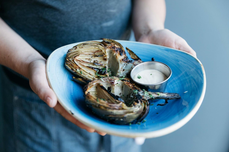 Jimena-Peck-Denver-Food-Photographer-Fish-N-Beer-GrilledArtichoke