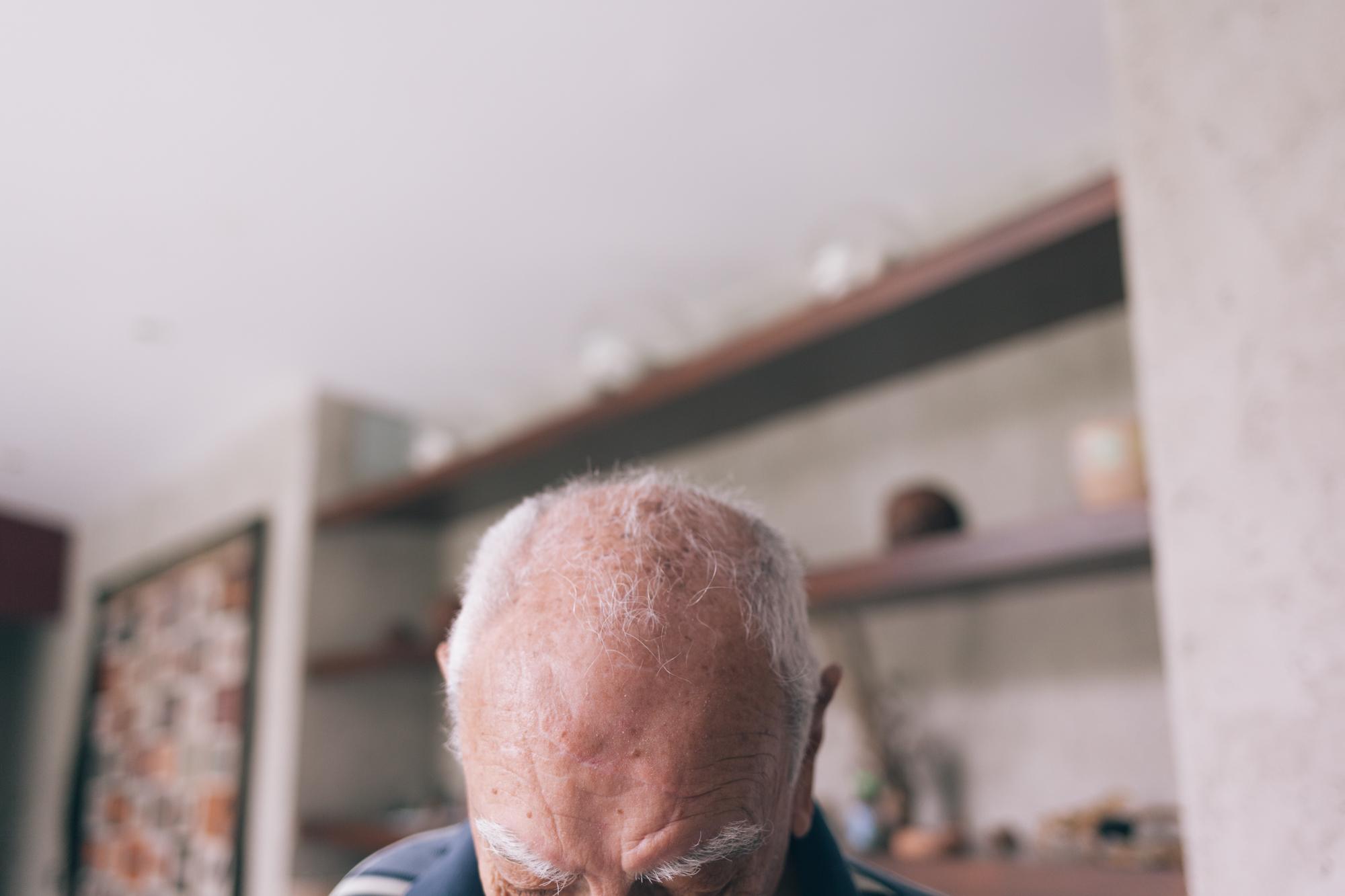 Jimena Peck Denver Lifestyle Editorial Photographer Grandfather Head