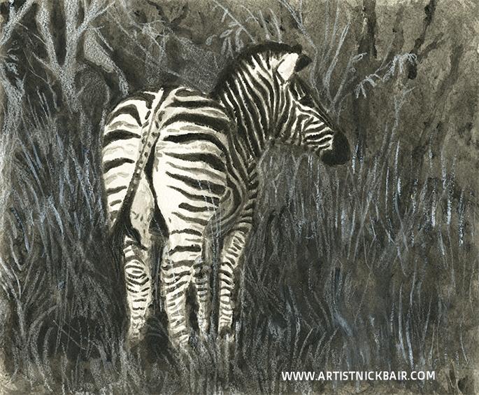 Back of Zebra - SOLD