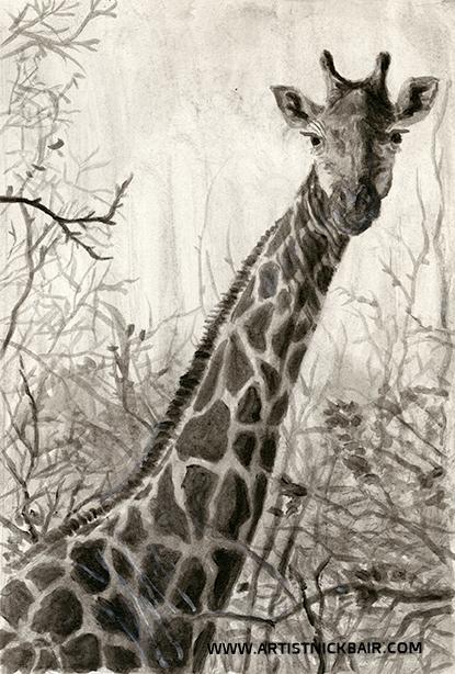Giraffe in Branches - SOLD