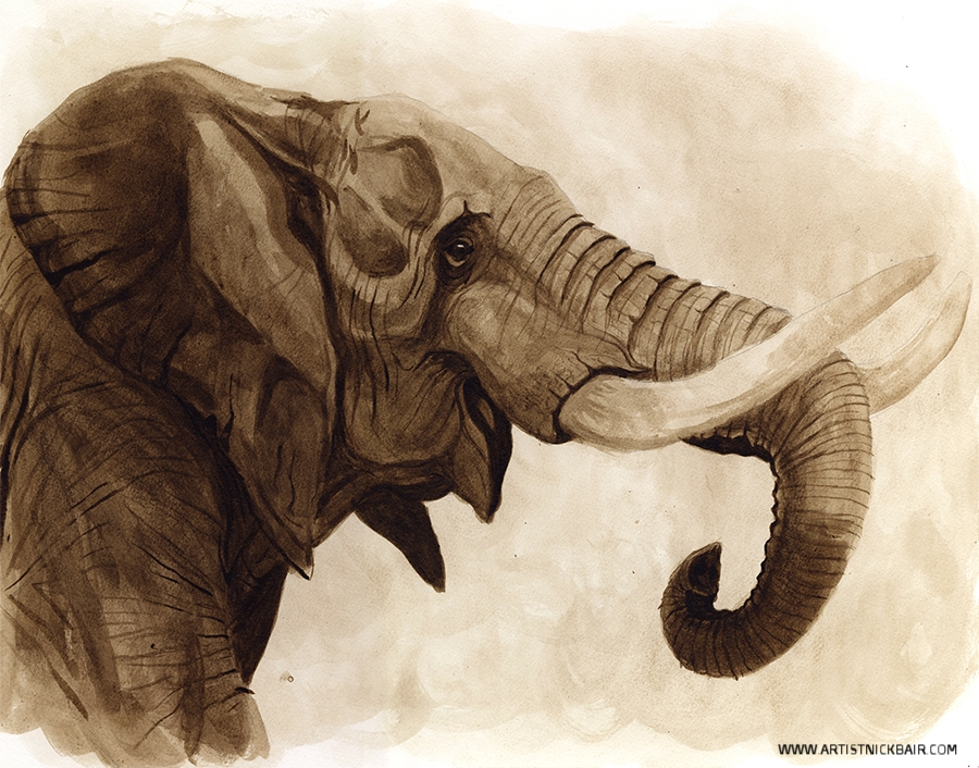 Elephant in Ink