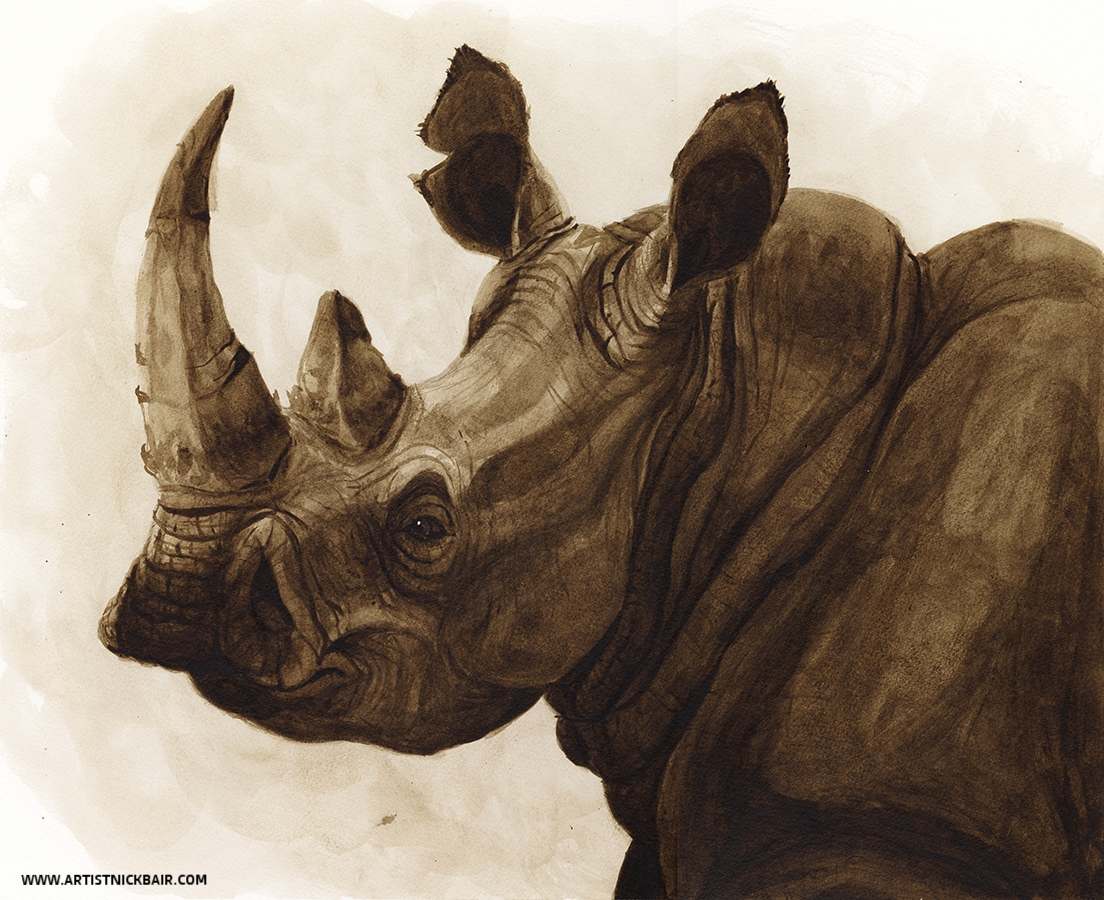 Rhinoceros in Ink