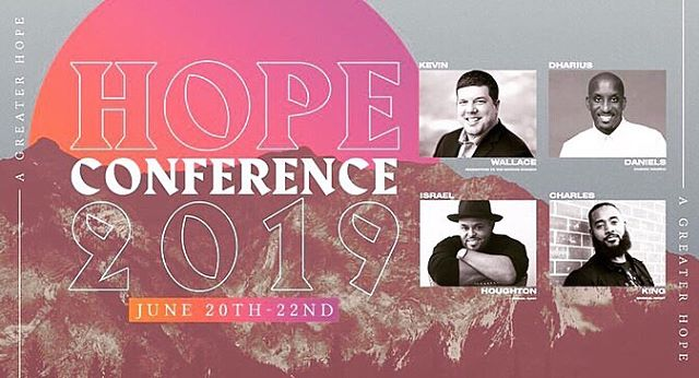 THIS THURSDAY!! 🙌🏾 You don't want to miss this. Tap on the pic to grab your seats. #WarnerRobins #HopeConferenceGa @israelhoughton @dhariusdaniels  @rttnpastor