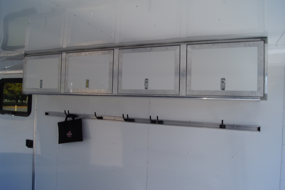 Aluminum Helmet Cabinets and Adjustable Clothes Hooks