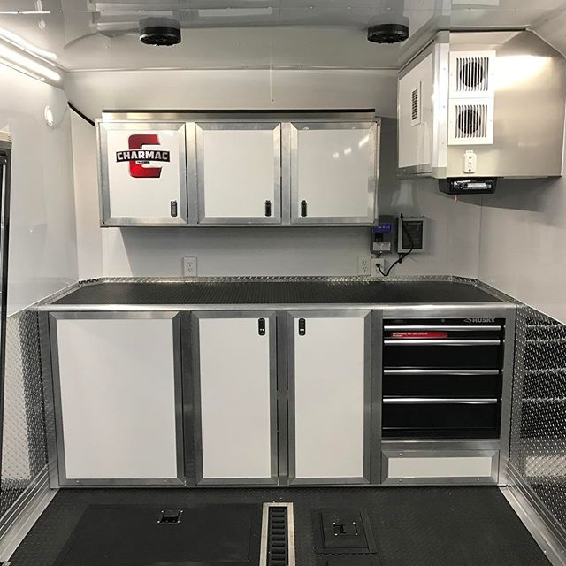Full custom front end in @cdsix new race trailer. This thing turned out awesome! You dream we build. #charmac #charmactrailers #racetrailer
