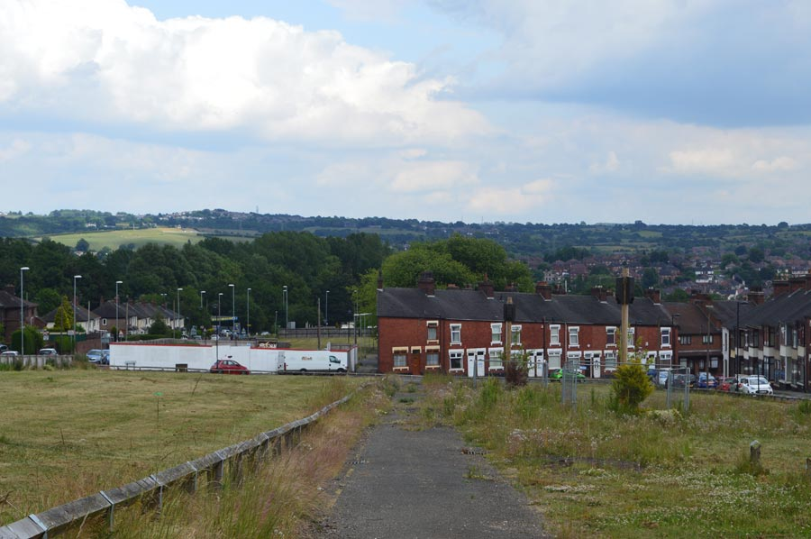 Land awaiting redevelopment off Bucknall New Road, Hanley.