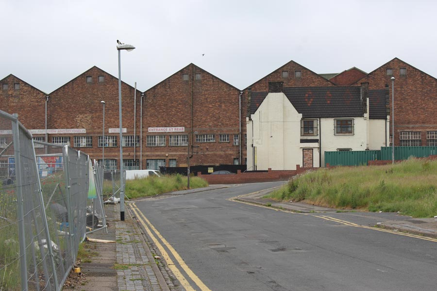 Land awaiting redevelopment off Litchfield Street (A50), Hanley.