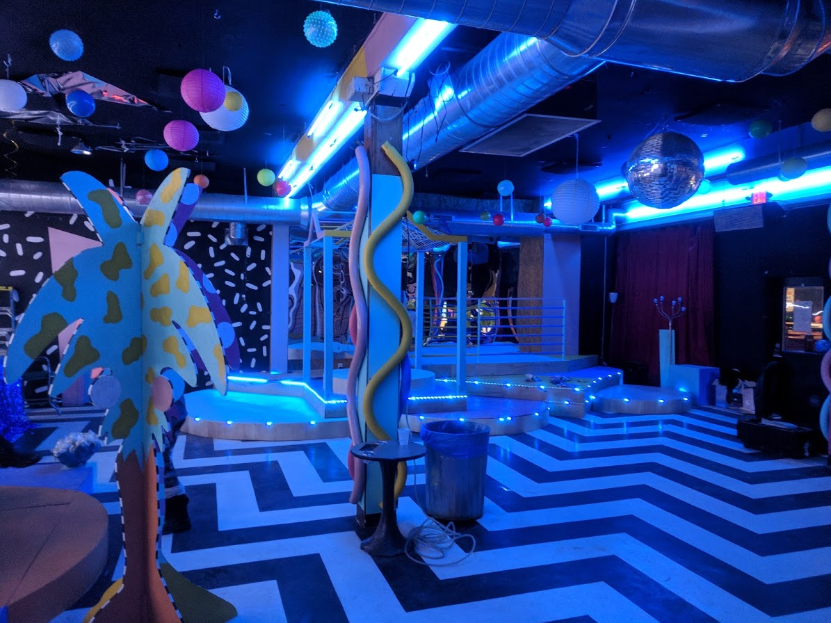 Mahall's 20 Lanes Lakewood Ohio main stage room I redesigned for the From Venus to The Valley NYE party 2018!